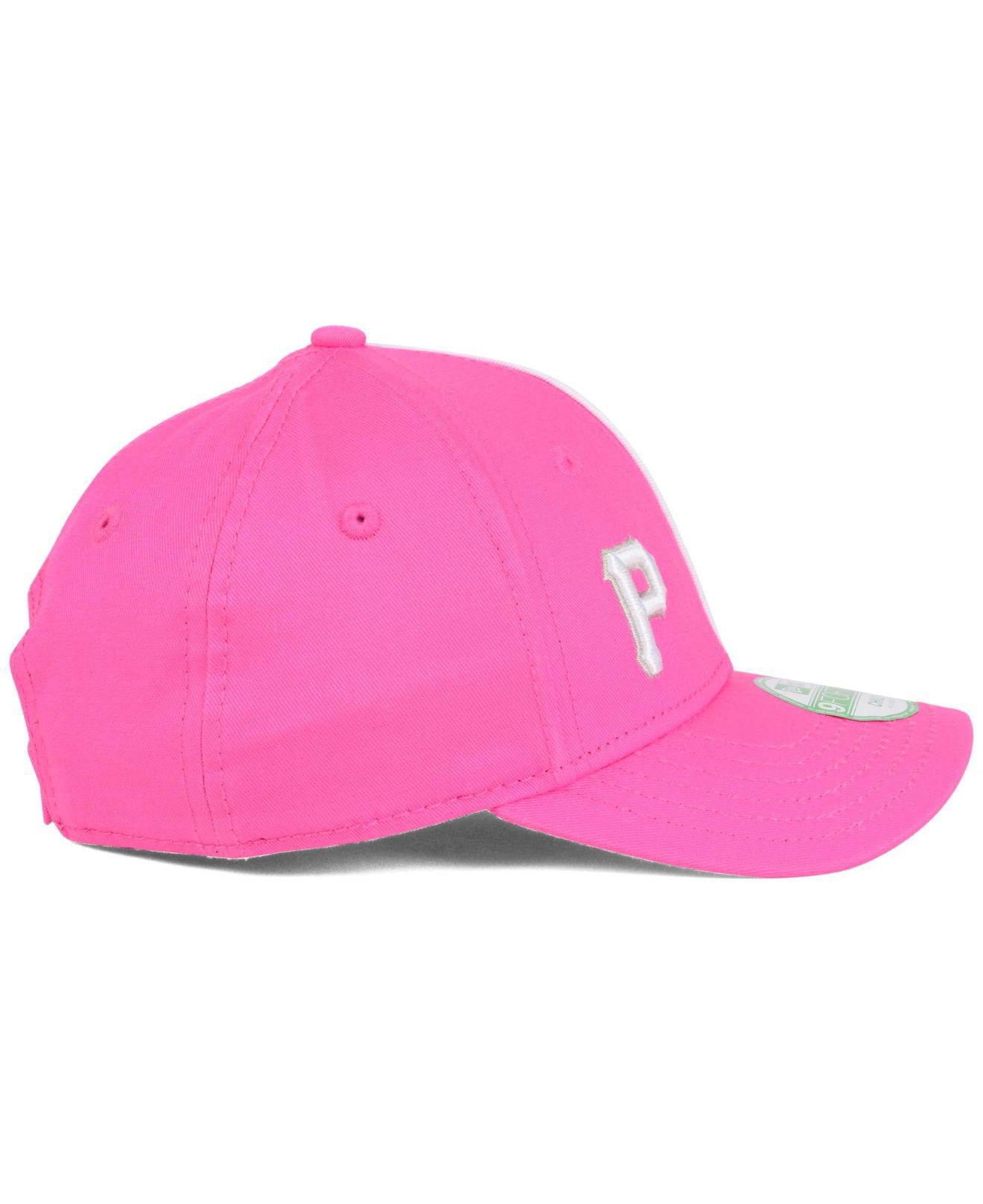 uk availability 663c3 ca2f8 KTZ - Pink Pittsburgh Pirates Face Front Minnie 9forty Cap - Lyst. View  fullscreen