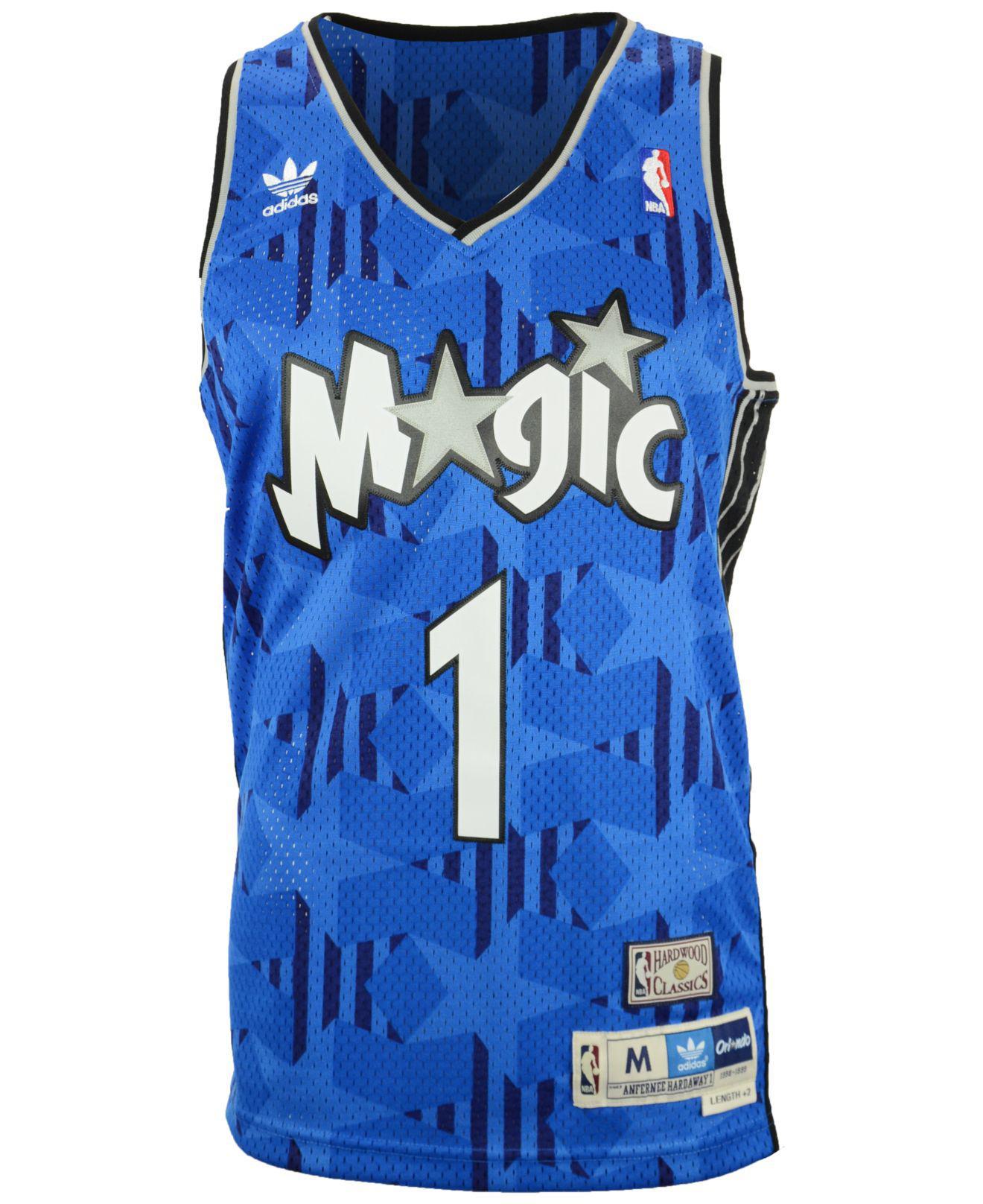 60d123bc2c0 ... czech lyst adidas mens penny hardaway orlando magic swingman jersey in  blue for men d3567 59aa6