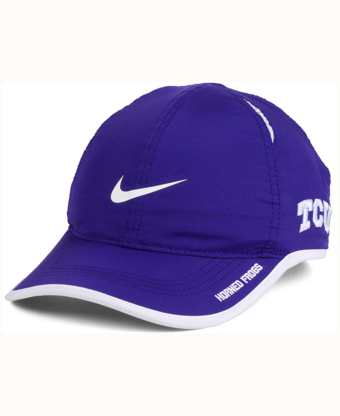 buy online 2cdcf e0c17 ... sweden lyst nike tcu horned frogs featherlight cap in purple for men  f408d 36066