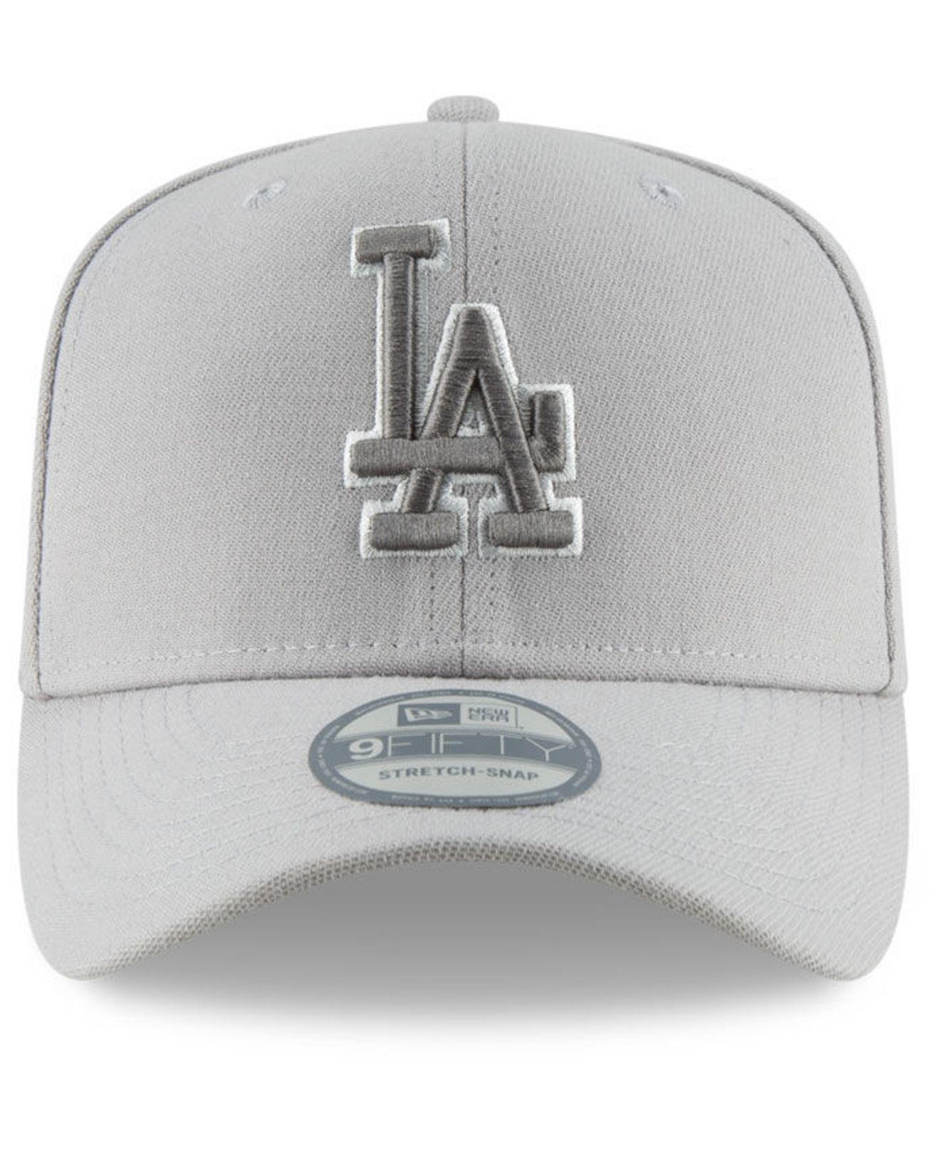 detailed look 54ea8 f3a4b ... best price lyst ktz los angeles dodgers color prism pack stretch 9fifty  snapback cap in gray