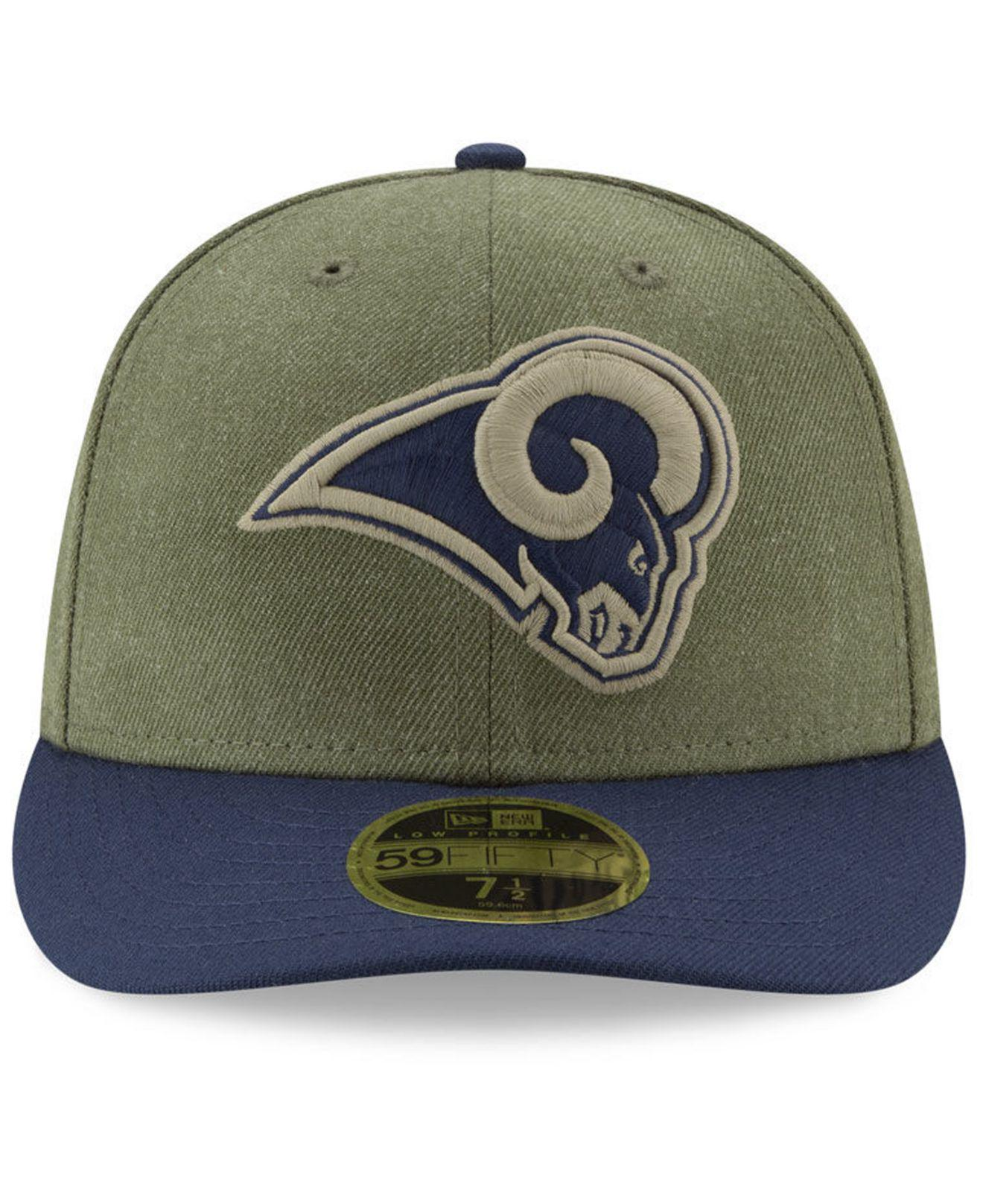 reputable site 9b04f ed9c4 KTZ Los Angeles Rams Salute To Service Low Profile 59fifty Fitted ...