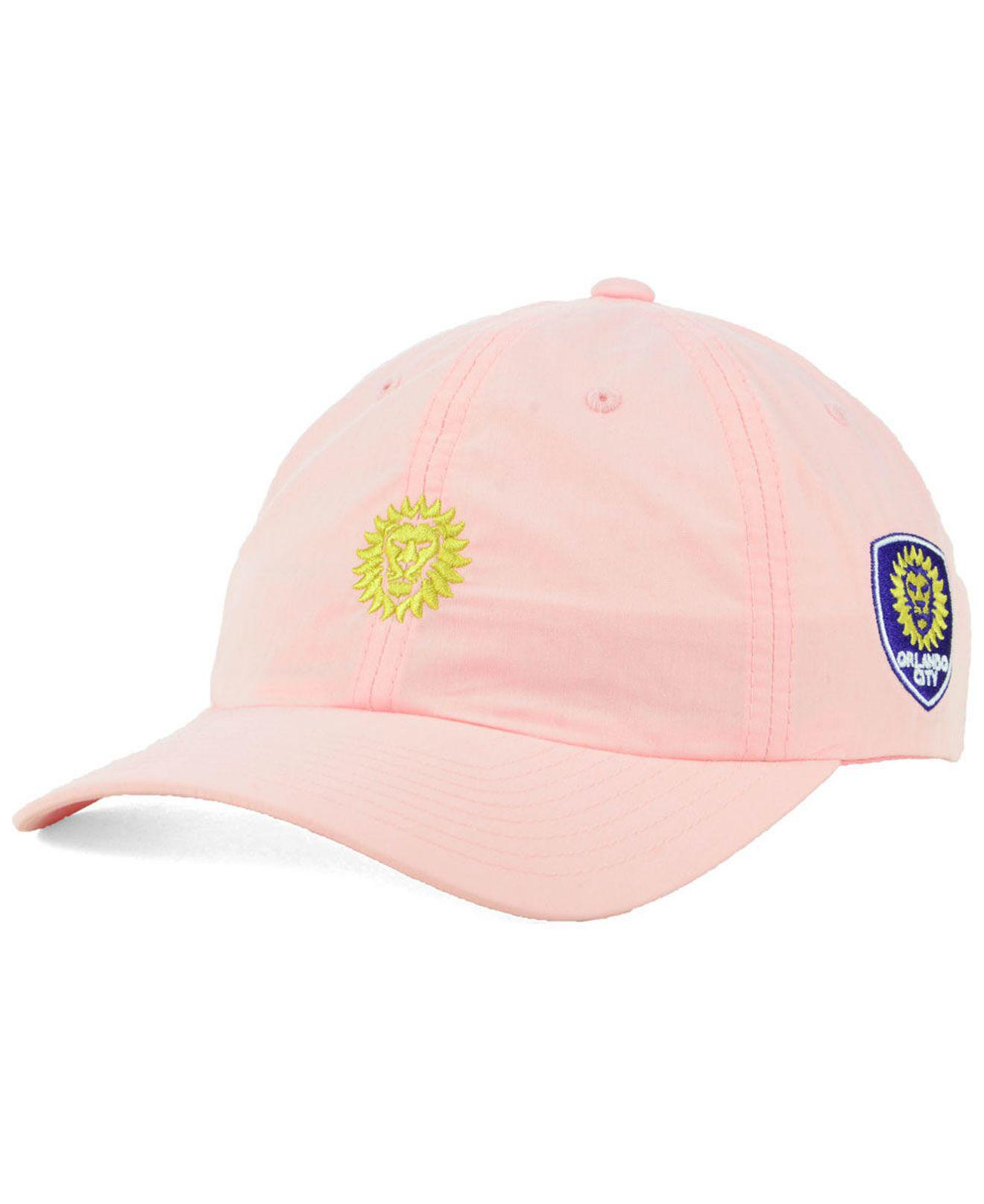 on sale 2ca8c 0ed21 ... amazon adidas. womens orlando city sc pink easy adjustable cap 61f4e  75b83