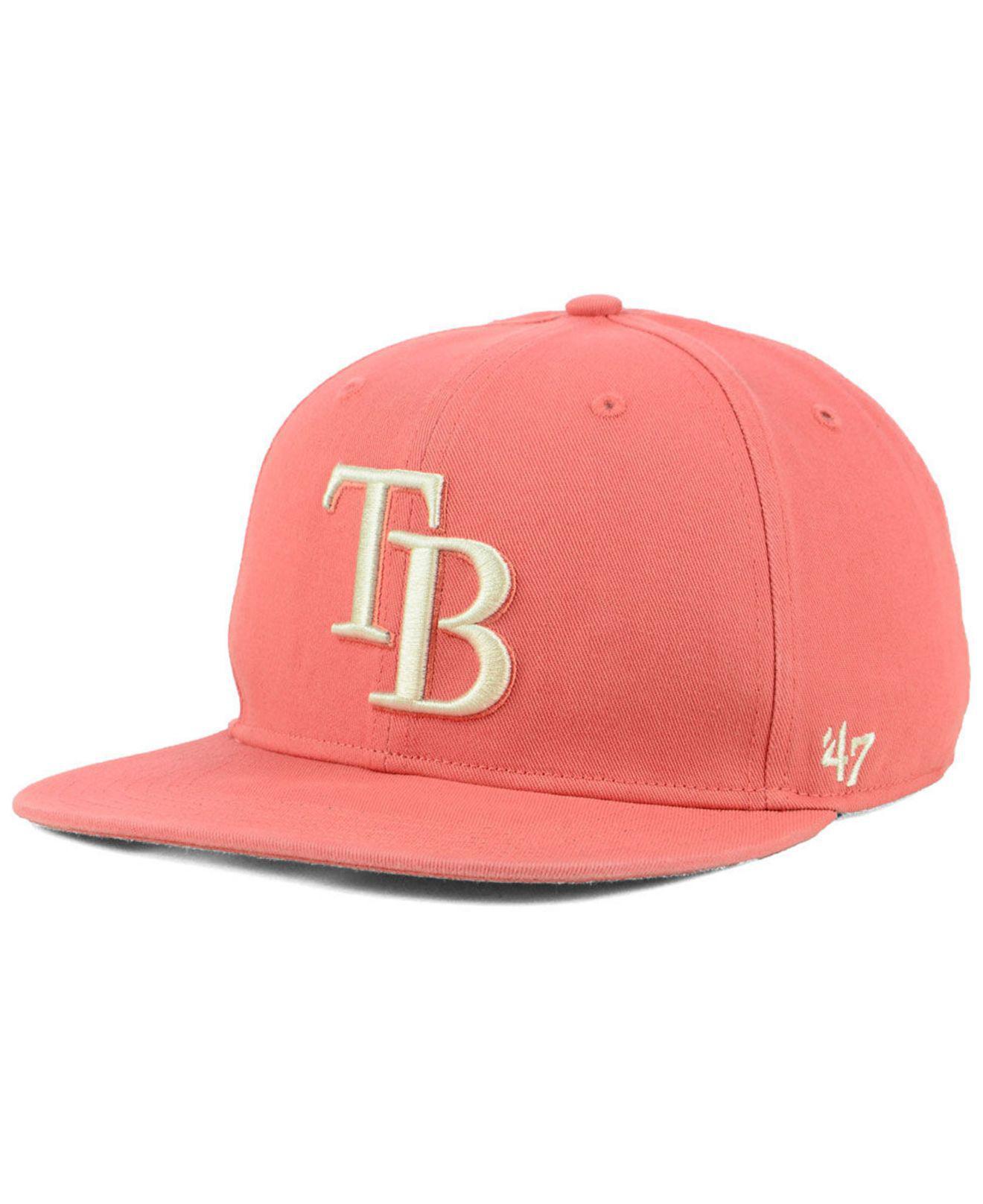 separation shoes 873ba a38de 47 Brand. Men s Pink Tampa Bay Rays Island Snapback Cap
