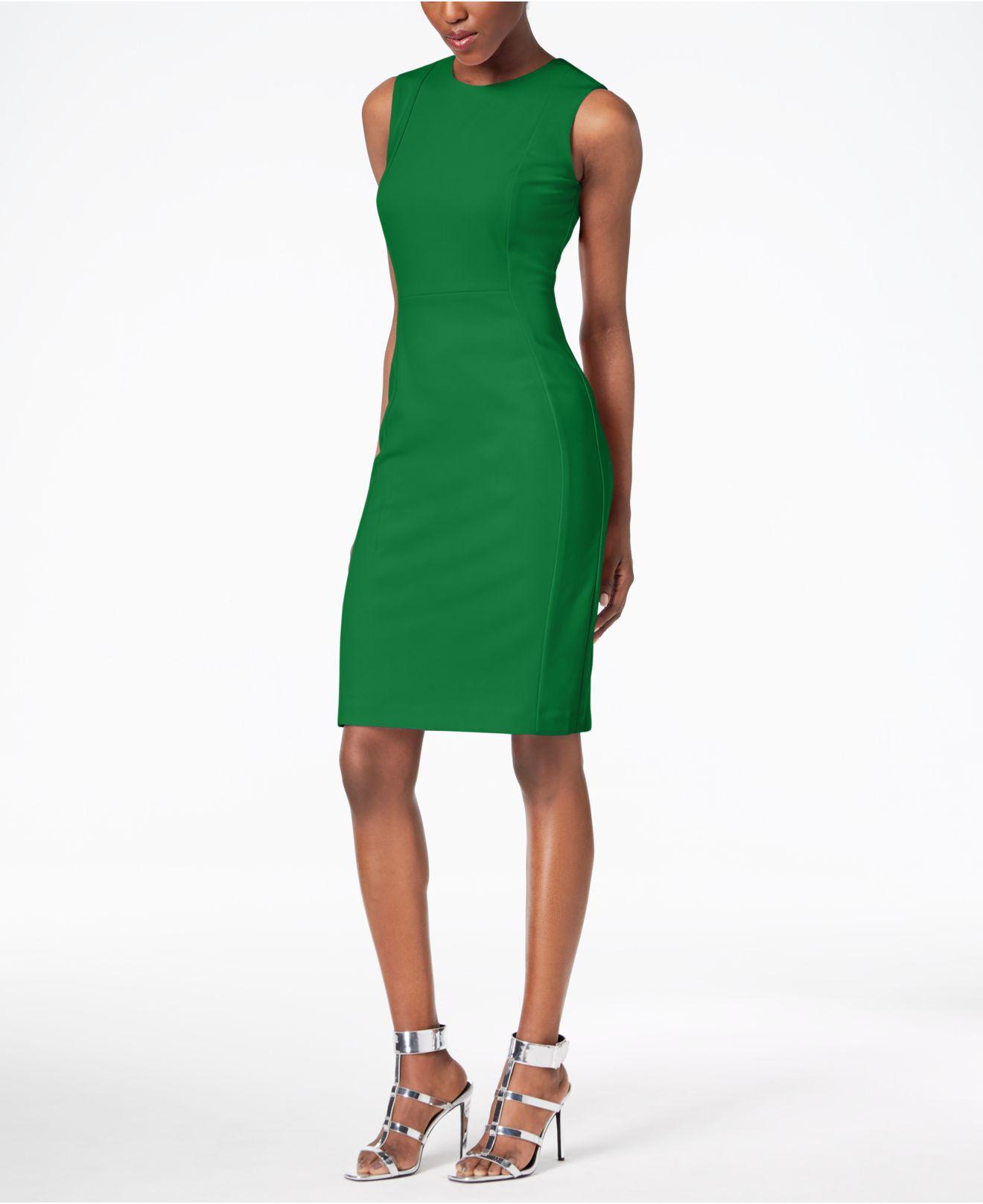 Lyst - Calvin Klein 205W39Nyc Scuba Crepe Sheath Dress, Regular ...