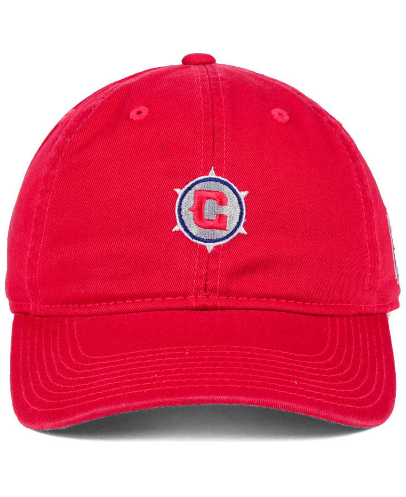 12e863e5054da ... new zealand lyst adidas chicago fire partial logo dad cap in red for men  save 25.0