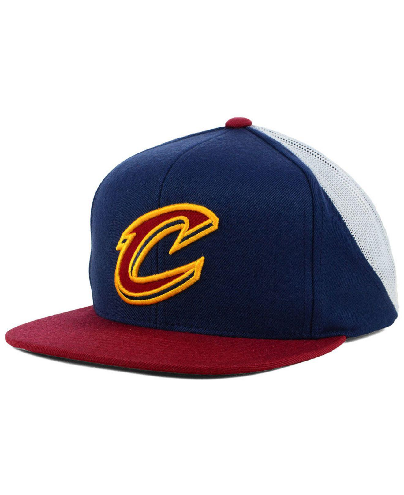 2953440a ... sale mitchell ness. mens blue cleveland cavaliers curved mesh snapback  21453 5b1f6