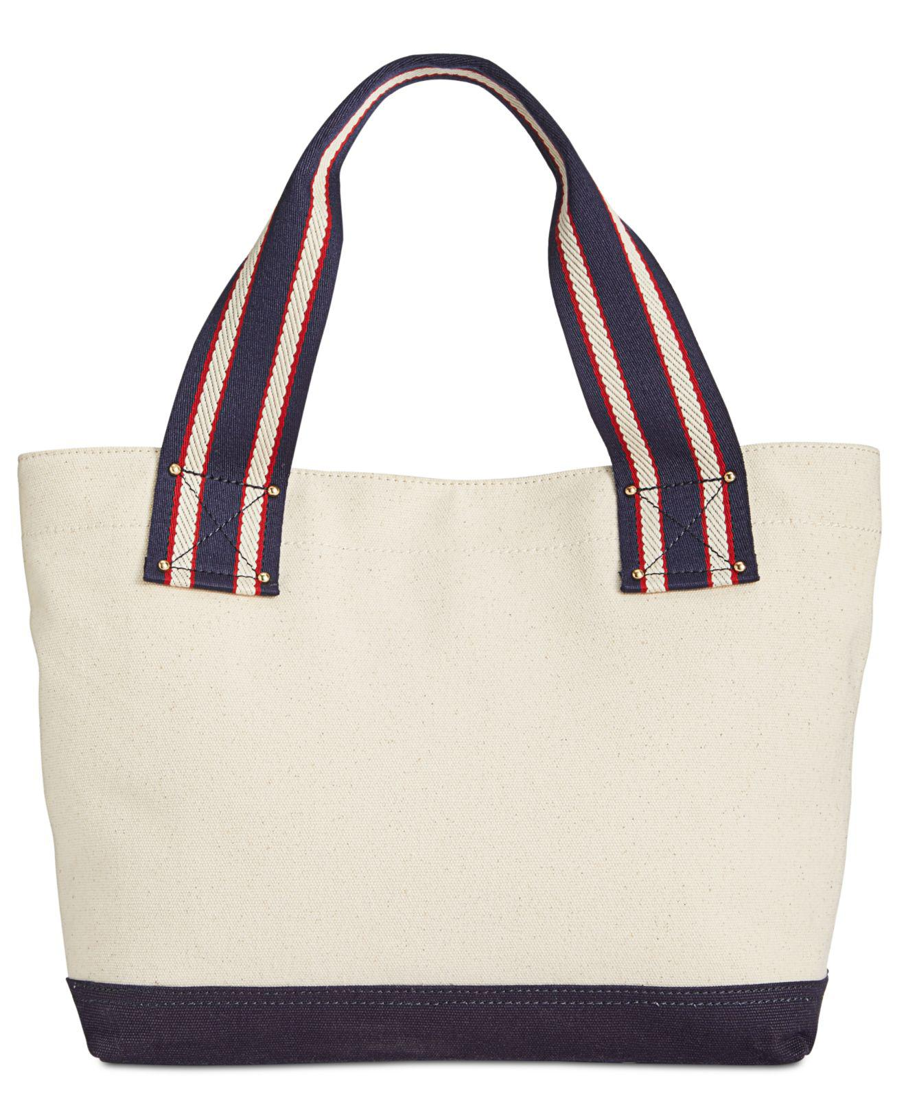 0c770a0327c9 Lyst - Tommy Hilfiger Classic Tommy Anchor Embroidered Tote