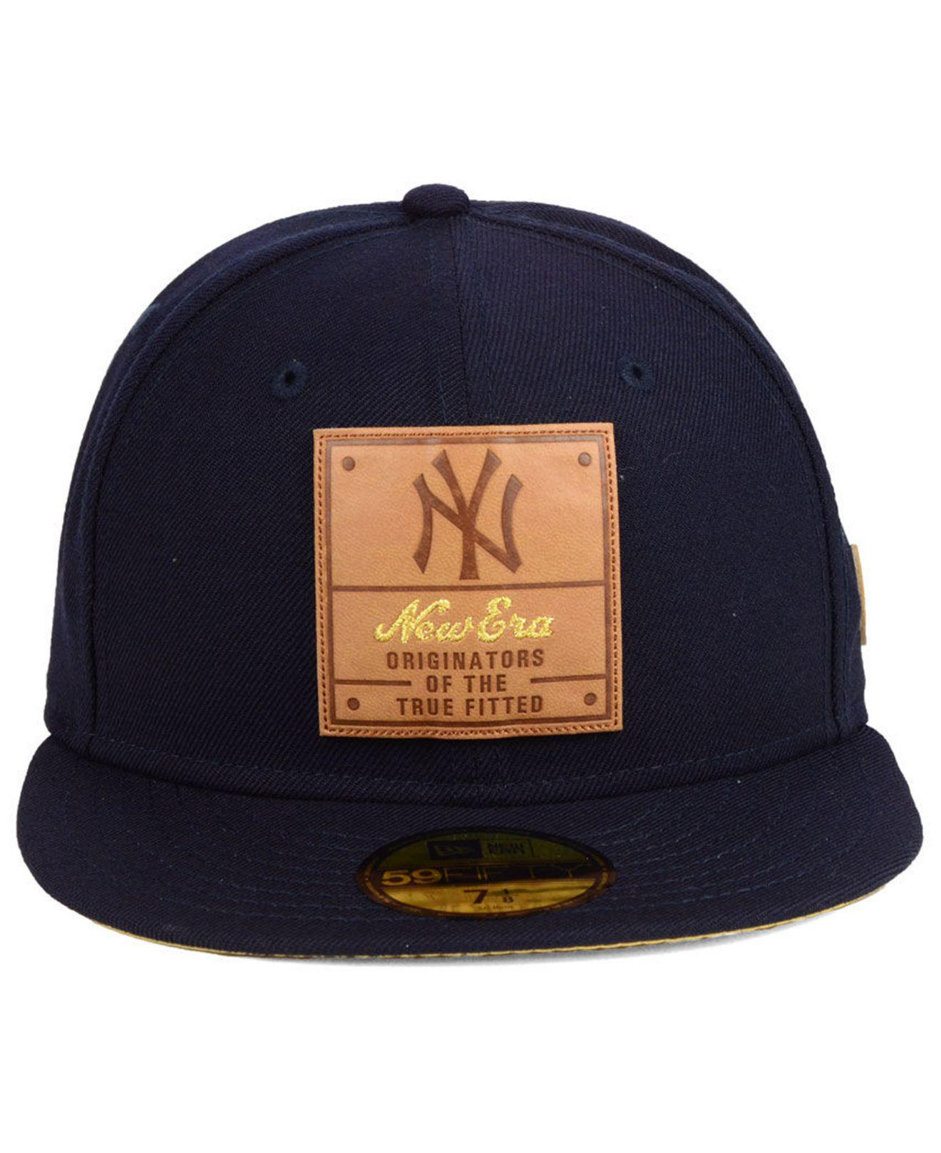 6df99e582a9 Lyst - KTZ New York Yankees Vintage Team Color 59fifty Fitted Cap in Blue  for Men