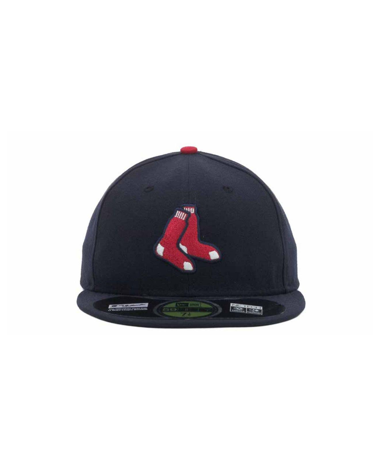 size 40 a519f 38387 Lyst - KTZ Boston Red Sox Authentic Collection 59fifty Hat in Black for Men