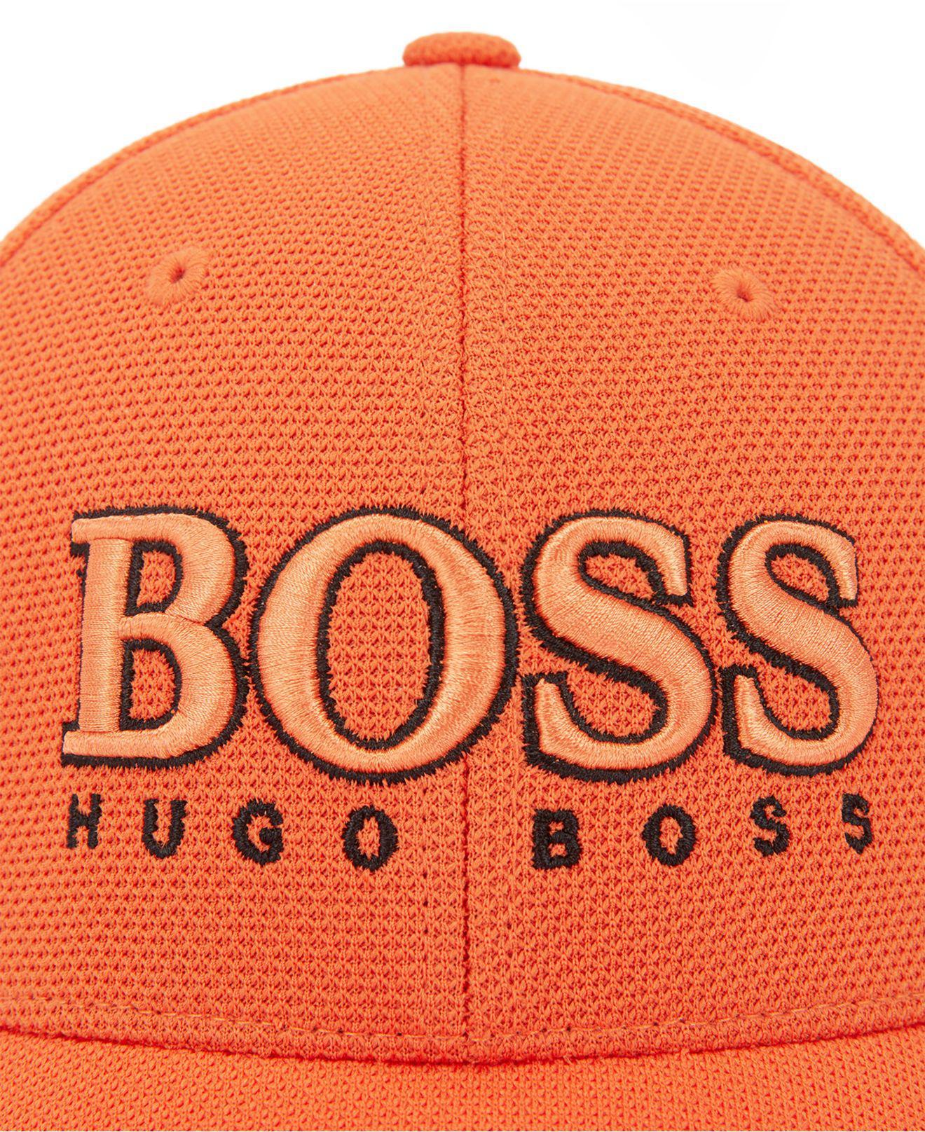 77b095c13684ca BOSS Baseball Cap In Technical Piqué in Orange for Men - Lyst