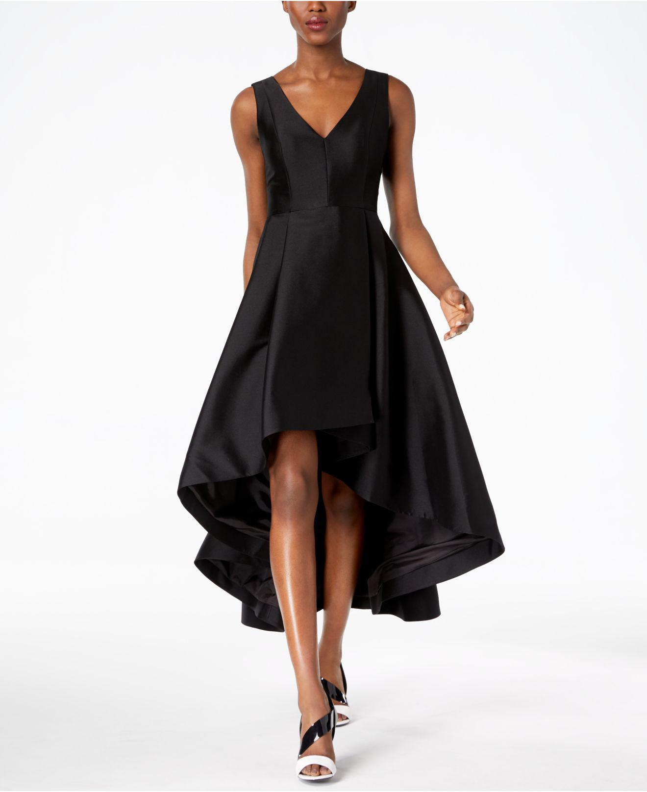 a77c04e0a9 Lyst - Calvin Klein High-low A-line Gown in Black - Save 50%