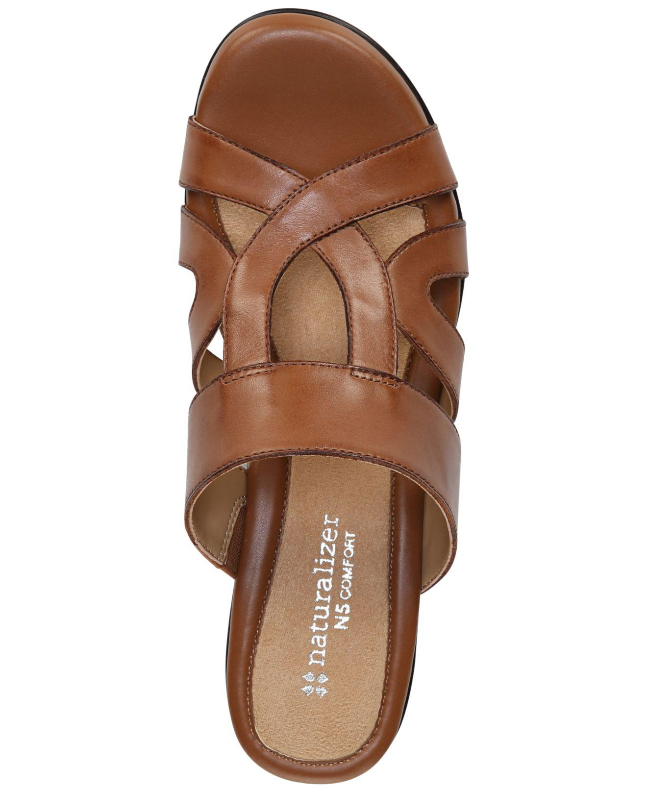 63199cbfaf8e Naturalizer - Brown Vanity Sandals - Lyst. View fullscreen