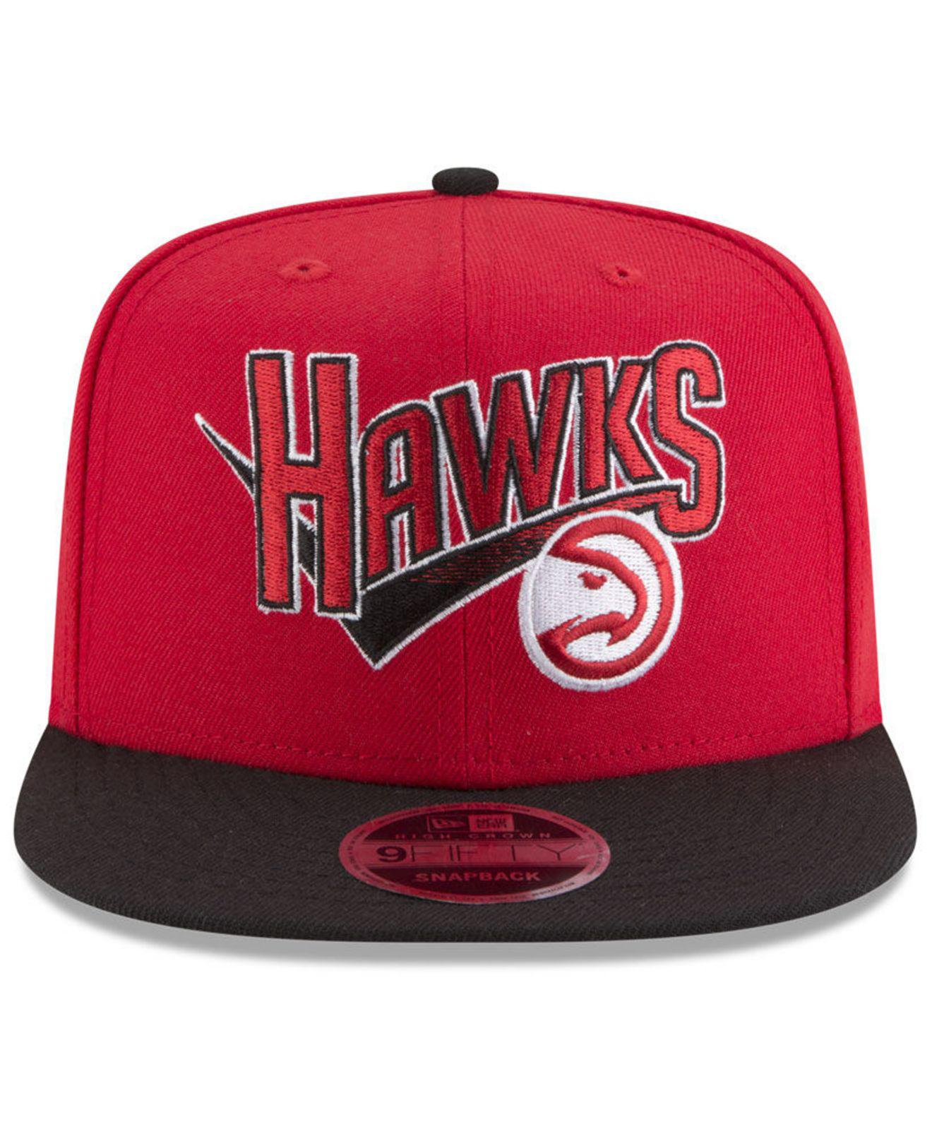 e04e2c79fa0 Lyst - Ktz Atlanta Hawks Retro Tail 9fifty Snapback Cap in Red for Men