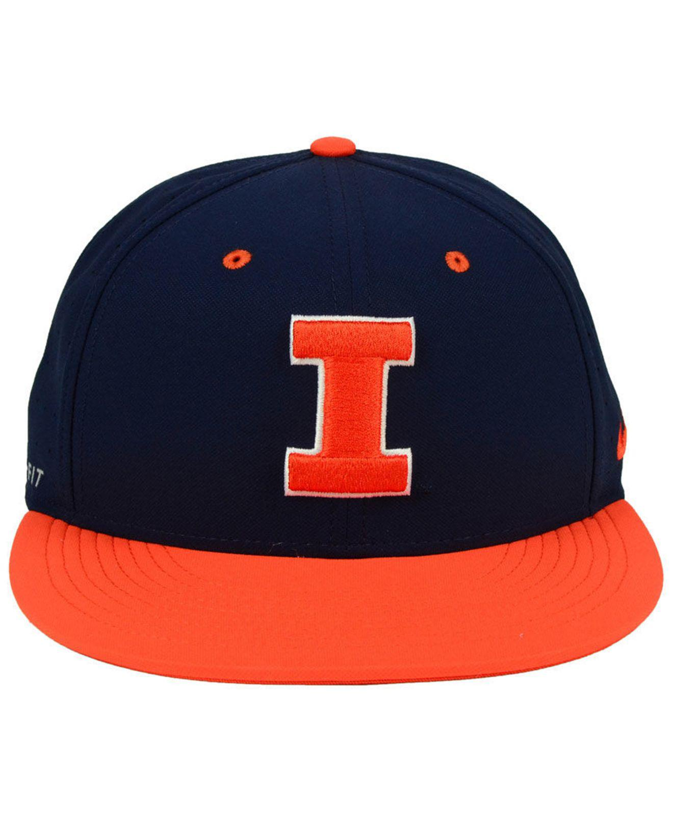 quality design e345a 4c264 ... uk lyst nike illinois fighting illini aerobill true fitted baseball cap  in blue for men 9d27b