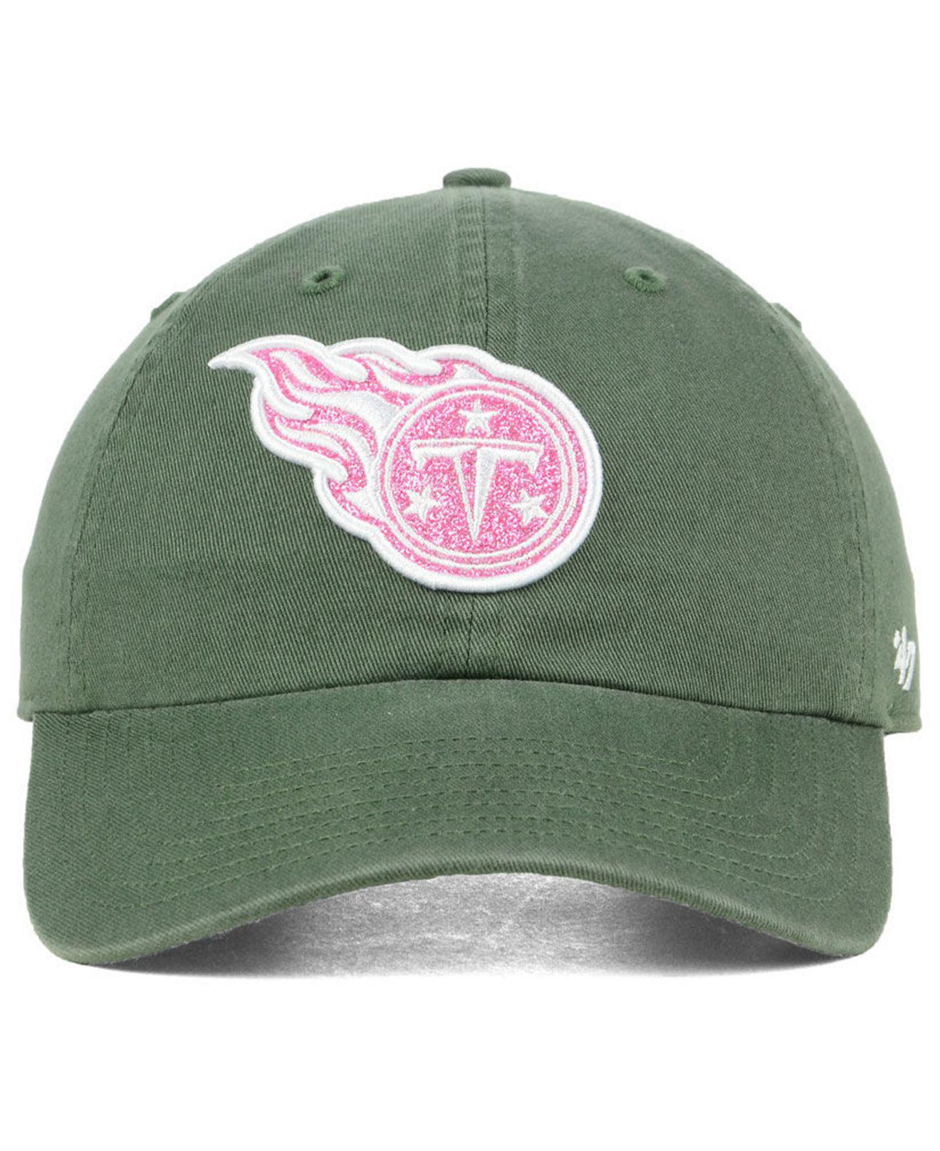 Lyst - 47 Brand Tennessee Titans Moss Glitta Clean Up Cap in Green 8c8a54aec