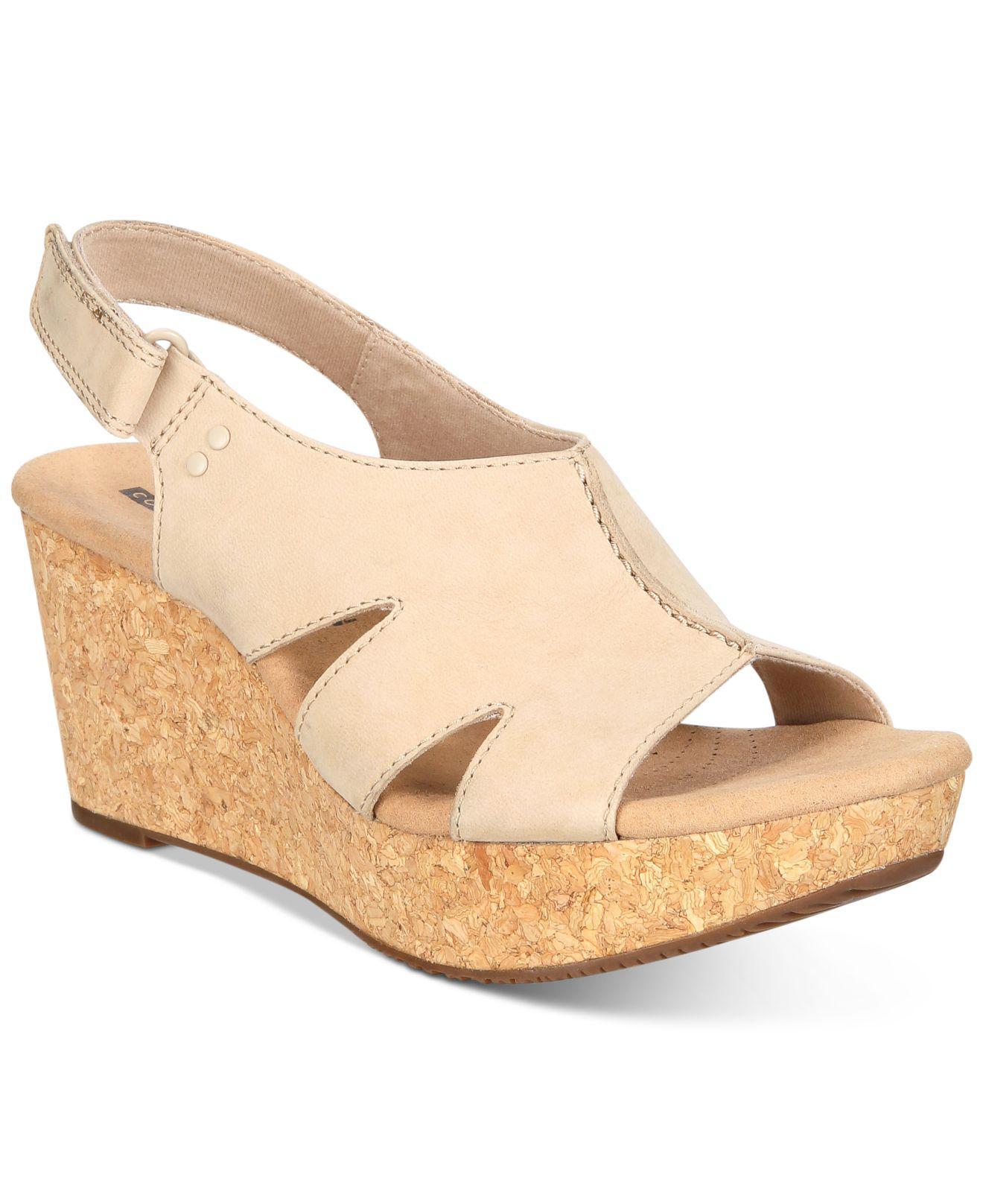 9f26cc276623 Lyst - Clarks Women s Annadel Bari Wedge Sandals in Natural