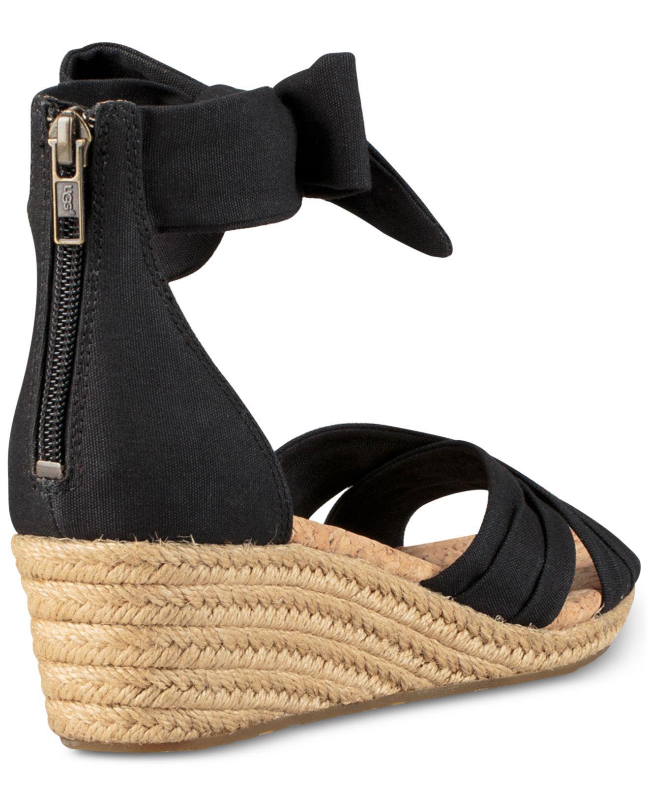 c467f7b49b1 Lyst - UGG Traci Espadrille Wedge Sandals in Black