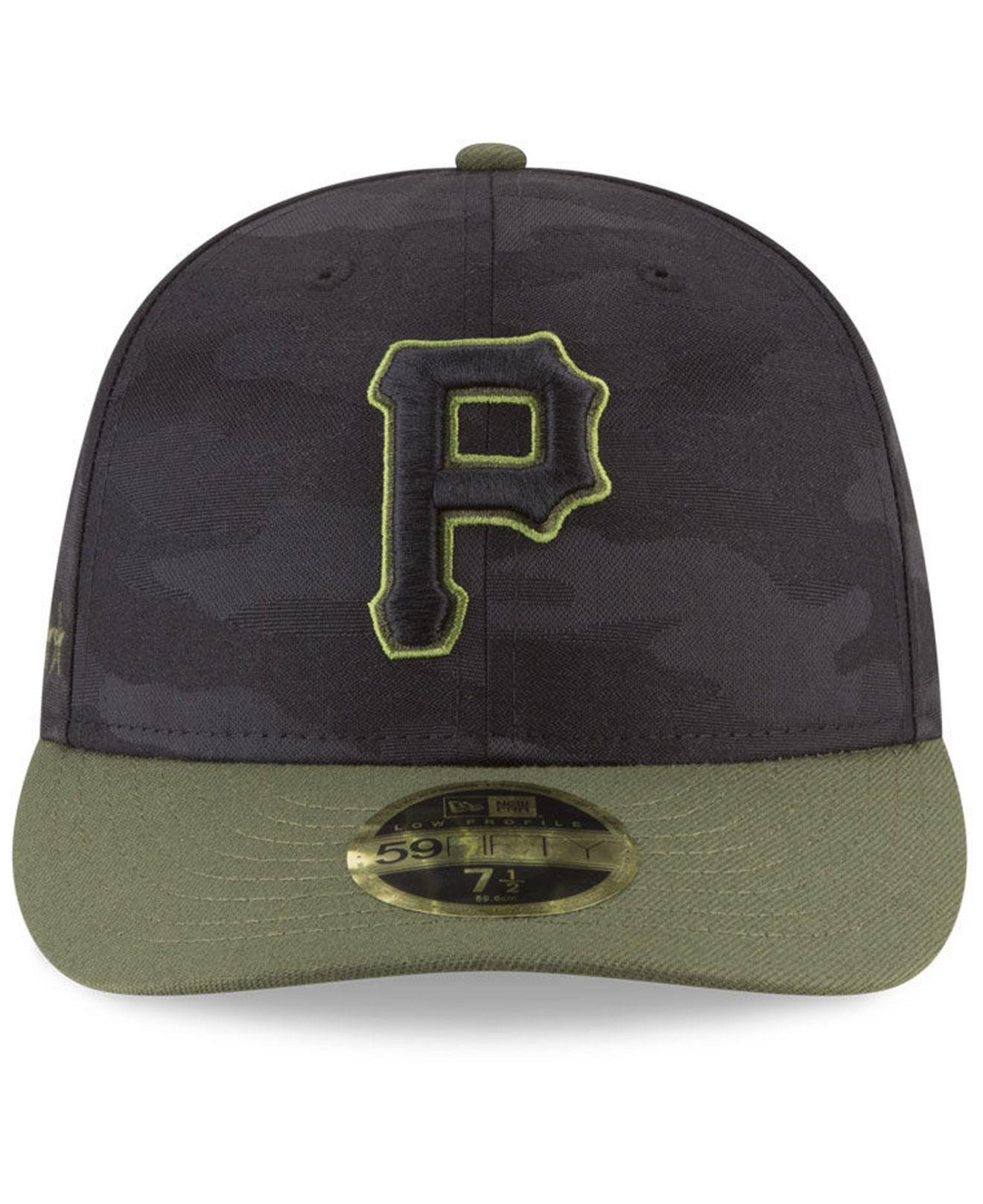 bdef00389e0 ... lyst ktz pittsburgh pirates memorial day low profile 59fifty fitted cap  in black for men save
