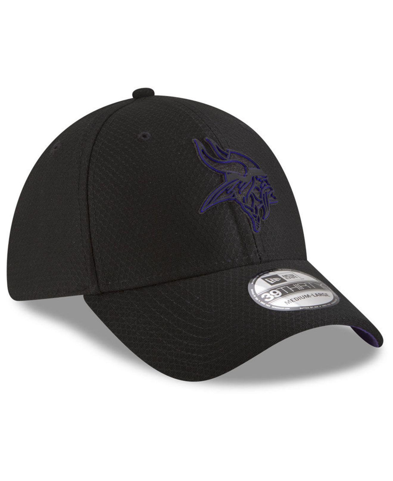 ff6ce5776 KTZ - Black Minnesota Vikings Training 39thirty Stretch Fitted Cap 2018 for  Men - Lyst. View fullscreen