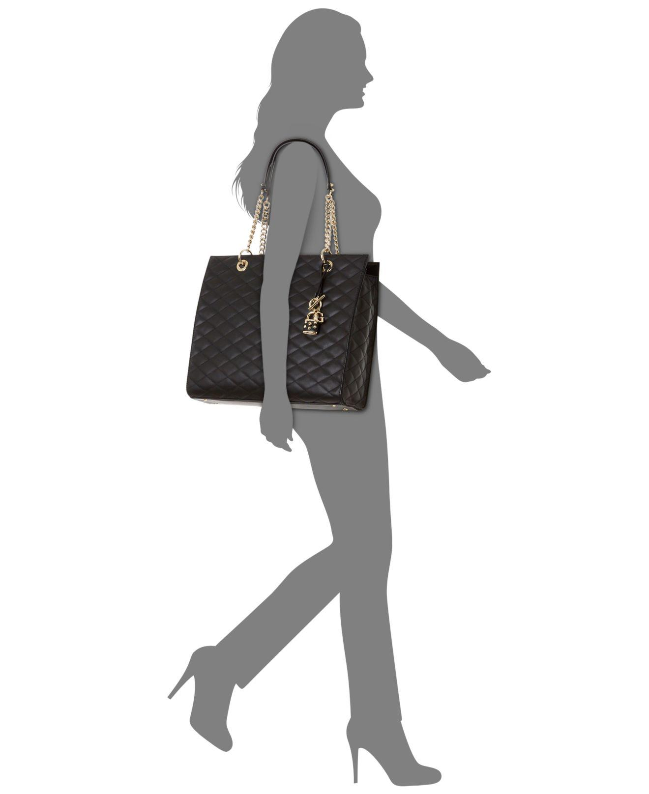 610bad03f6c5d Lyst - Guess Penelope Large Tote in Black