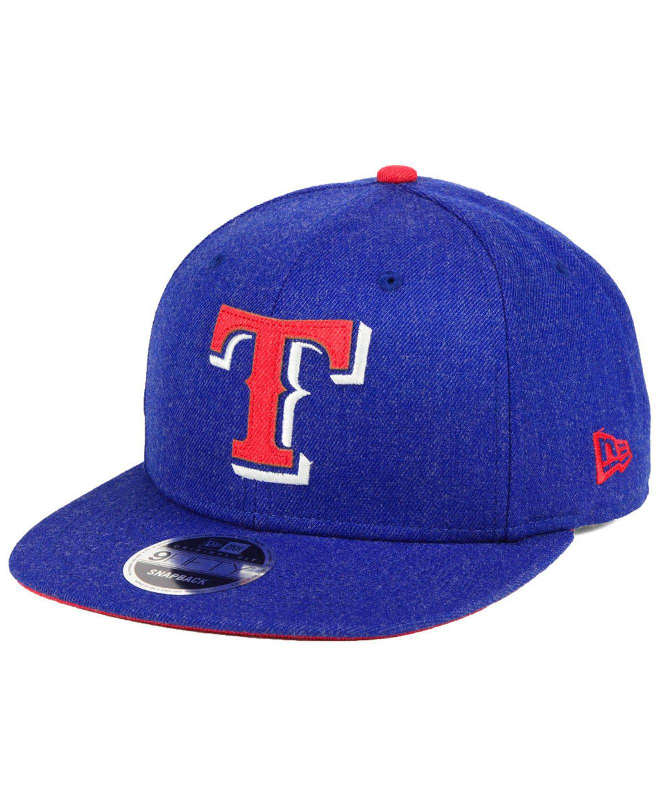 online store 06153 da56d ... cheap ktz. mens blue texas rangers heather hype 9fifty snapback cap  1df06 1c25b