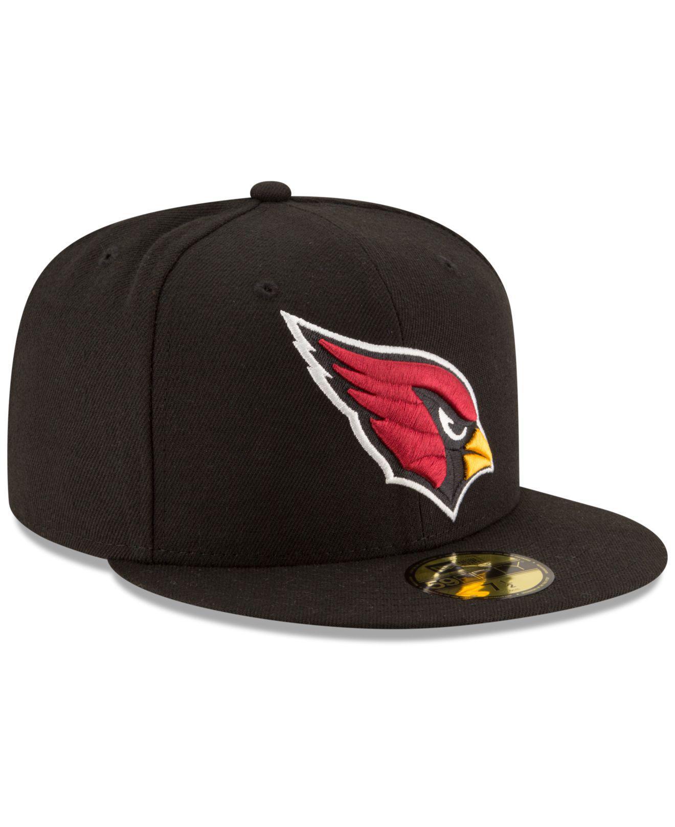 pretty nice d075b 3ea9b KTZ - Black Arizona Cardinals Team Basic 59fifty Cap for Men - Lyst. View  fullscreen