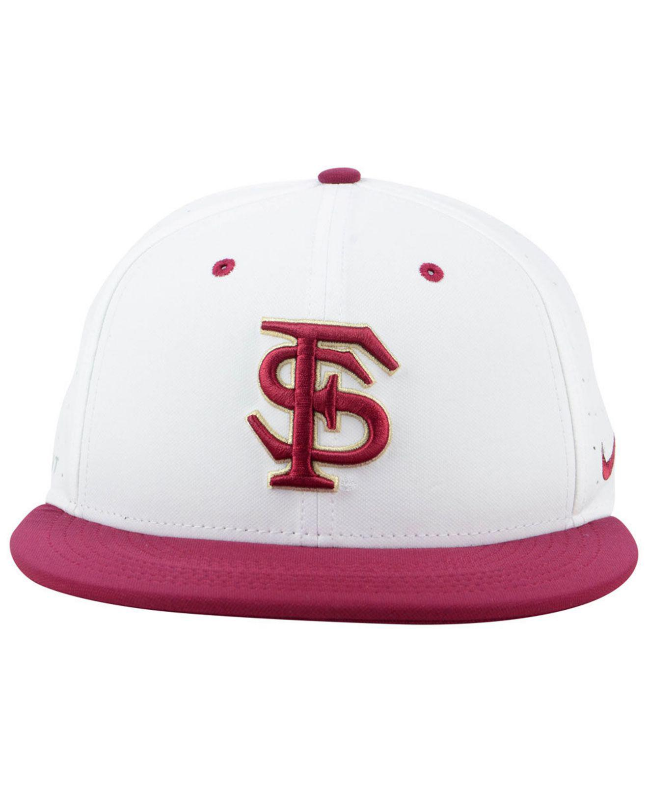 new product aa80a c7914 ... uk lyst nike florida state seminoles aerobill true fitted baseball cap  in white for men c8e59