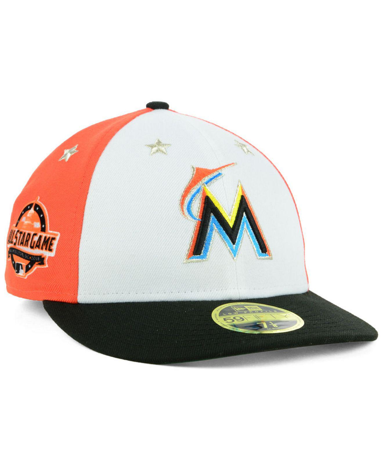 best service 8a6a6 6cf8f ... netherlands ktz. mens miami marlins all star game patch low profile  59fifty fitted cap 2018