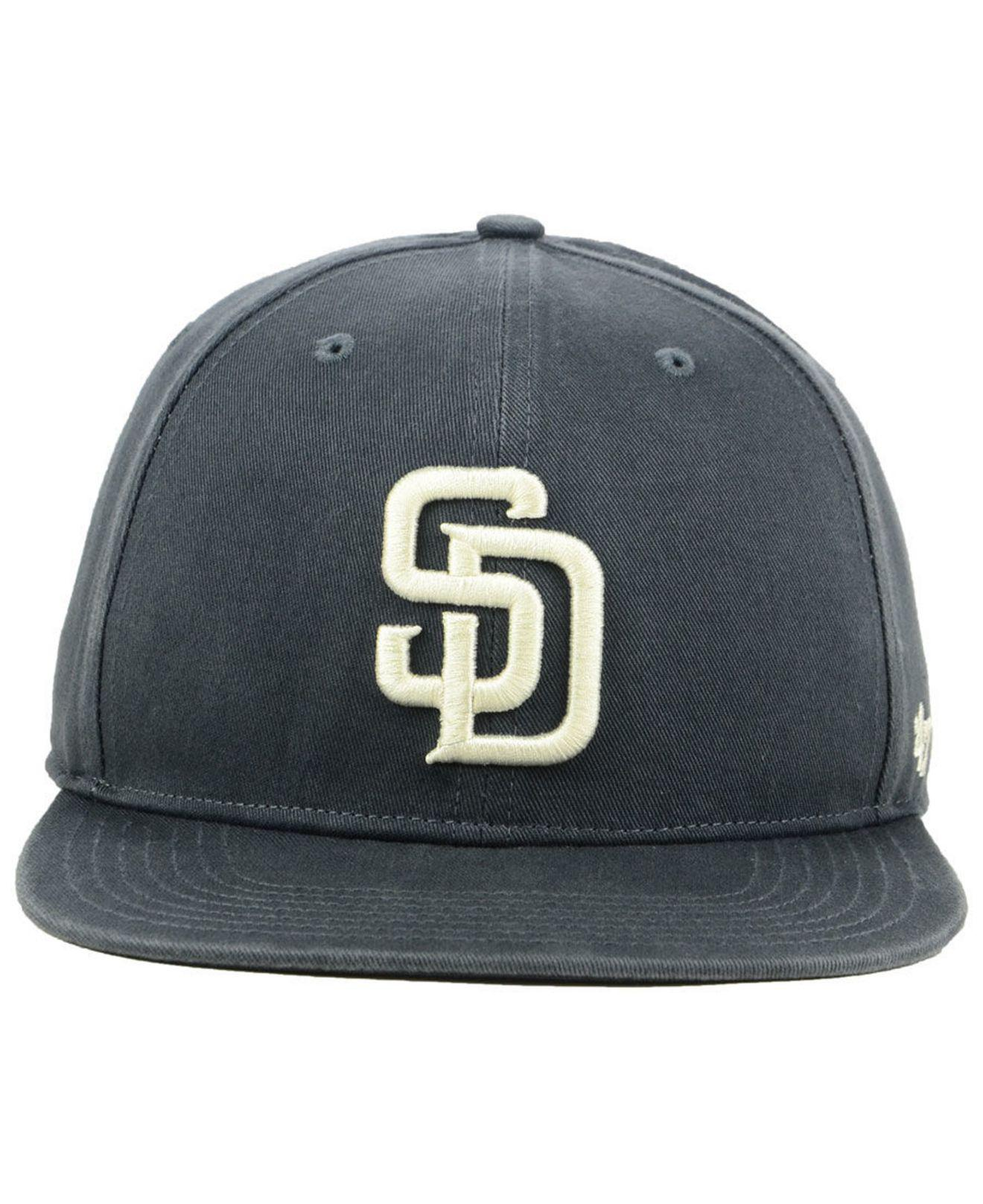 official photos 1fbd9 fa1df ... shopping lyst 47 brand san diego padres garment washed navy snapback cap  in blue for men