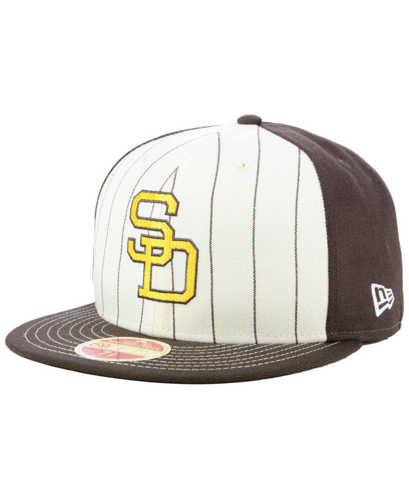 hot sale online 69bee 2a773 KTZ. Men s San Diego Padres Vintage Front 59fifty Fitted Cap