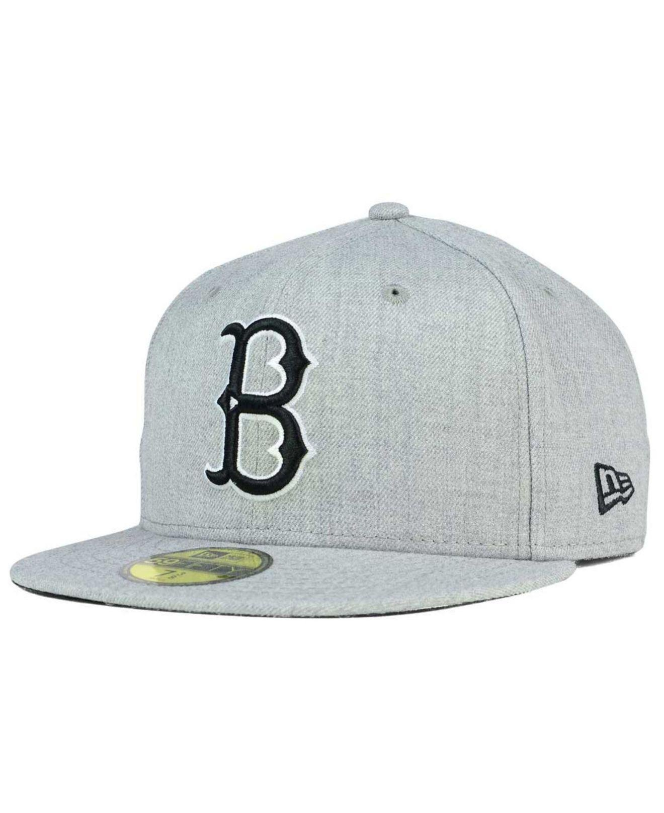 4d61ee9ef406e KTZ Brooklyn Dodgers Heather Black White 59fifty Cap in Gray for Men ...