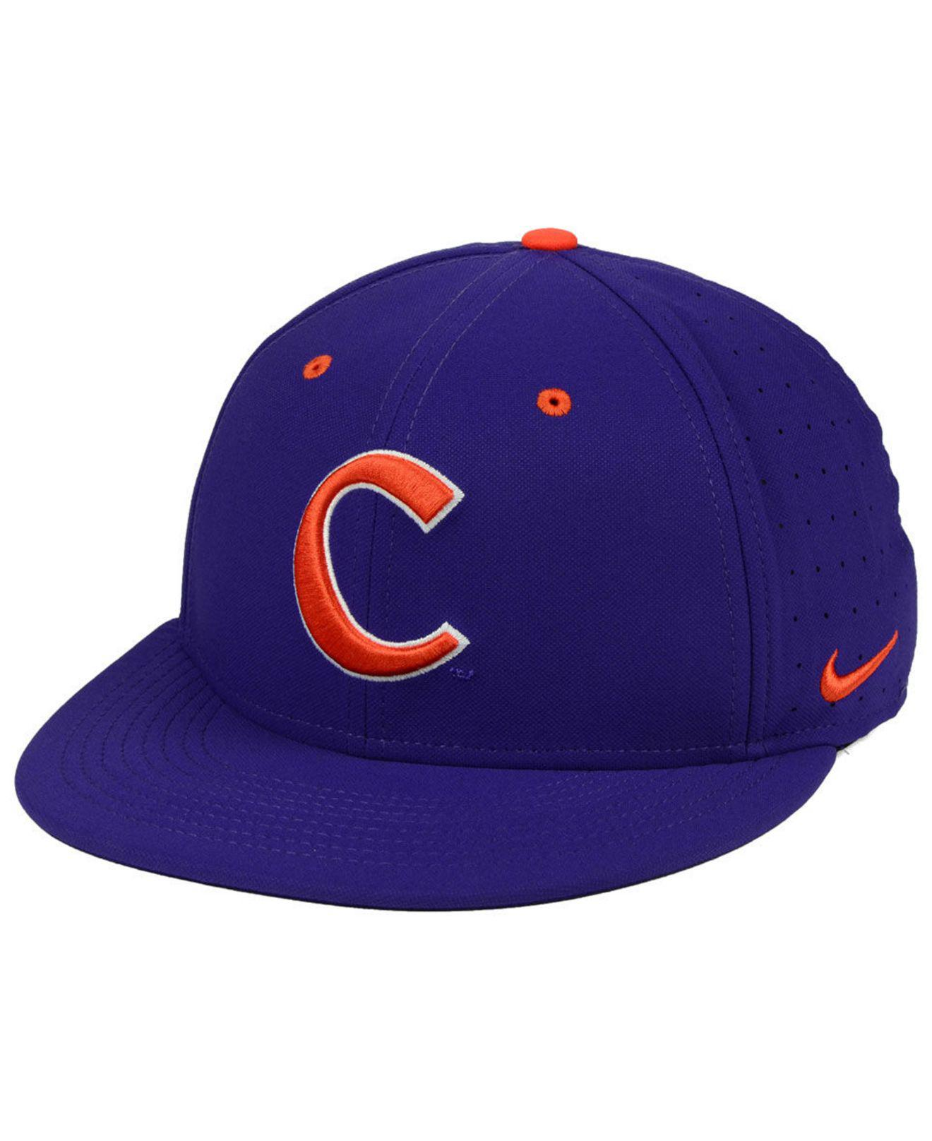 48b97c084fdcd Lyst - Nike Clemson Tigers Aerobill True Fitted Baseball Cap in ...