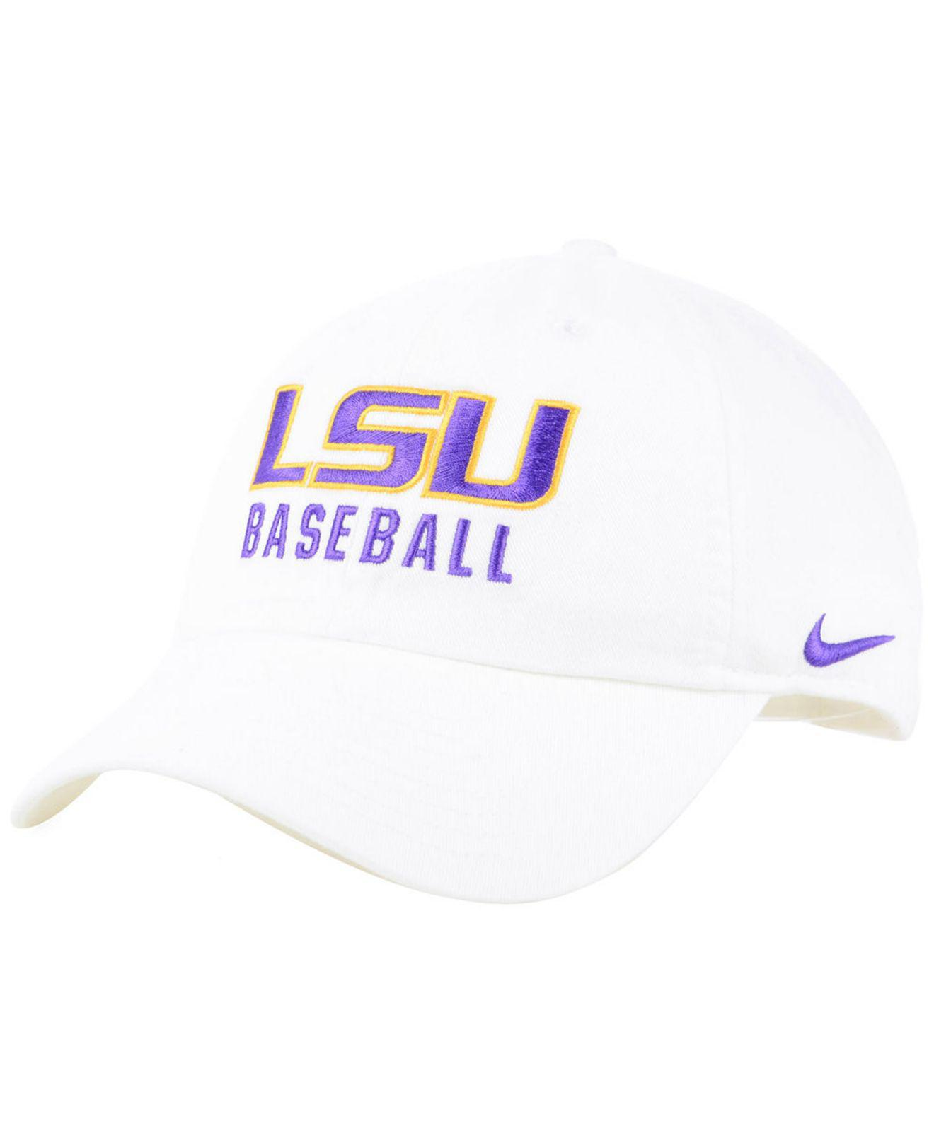1ef1b681ed3 Lyst - Nike Lsu Tigers Campus Sport Adjustable Cap in White for Men