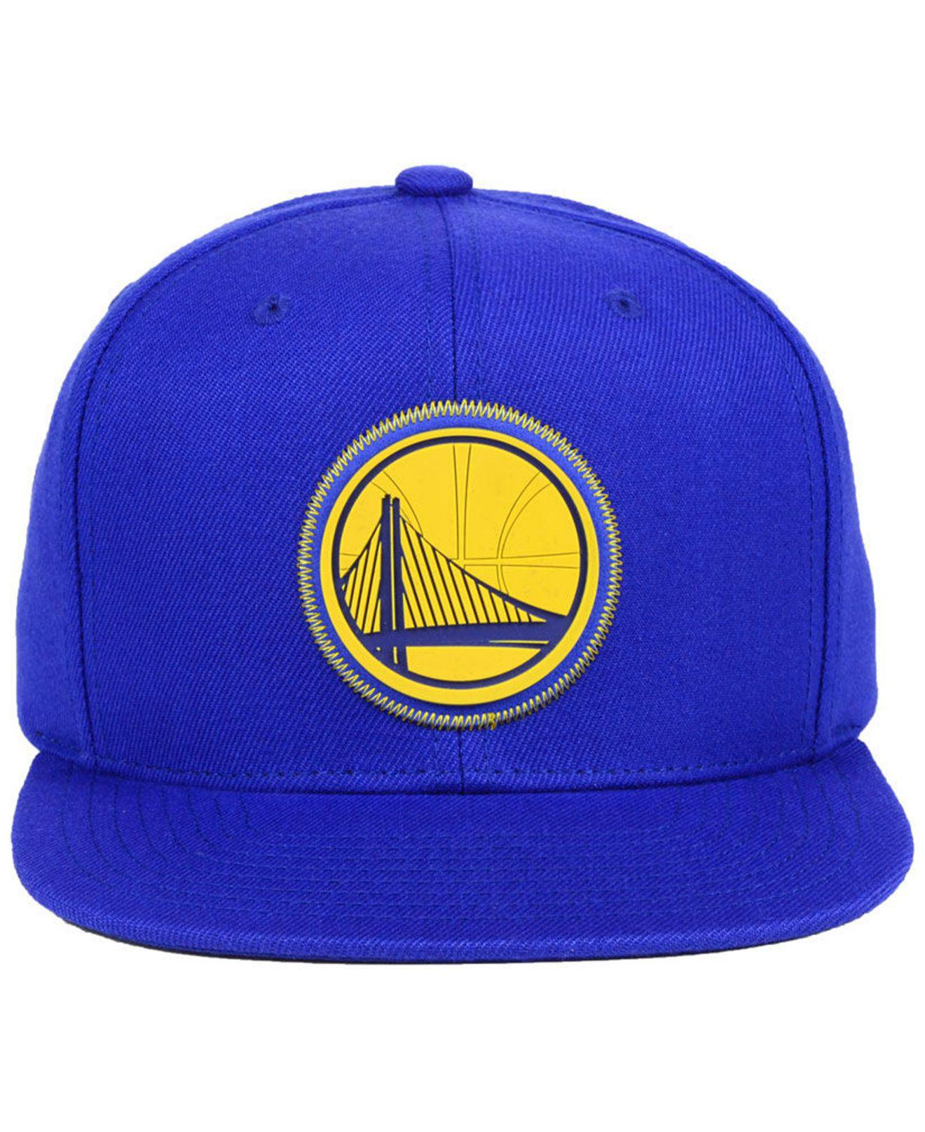 a135073a19abbe ... sale lyst mitchell ness golden state warriors zig zag snapback cap in  blue for men e7a7b