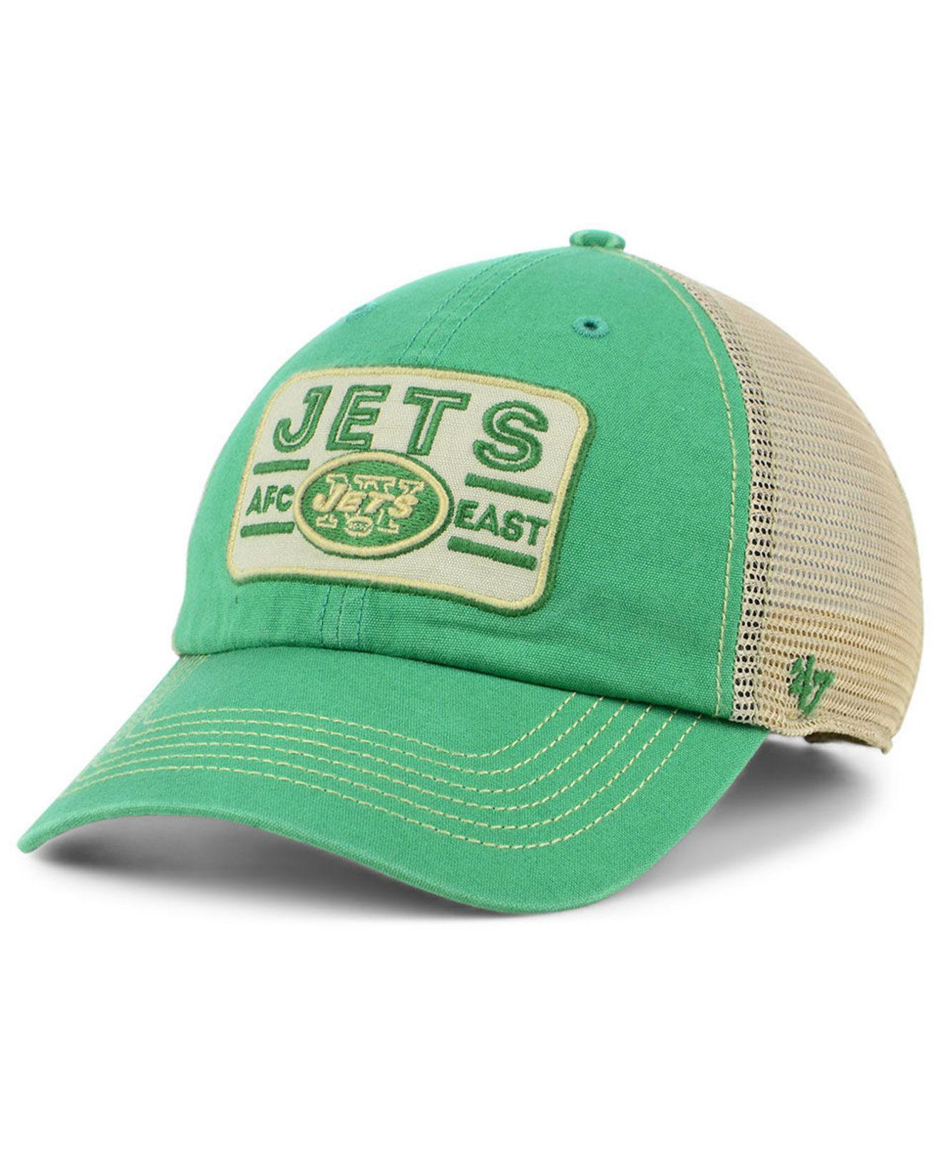 cheap for discount eff80 a0ffe 47 Brand New York Jets Sallana Mesh Clean Up Cap in Green for Men - Lyst