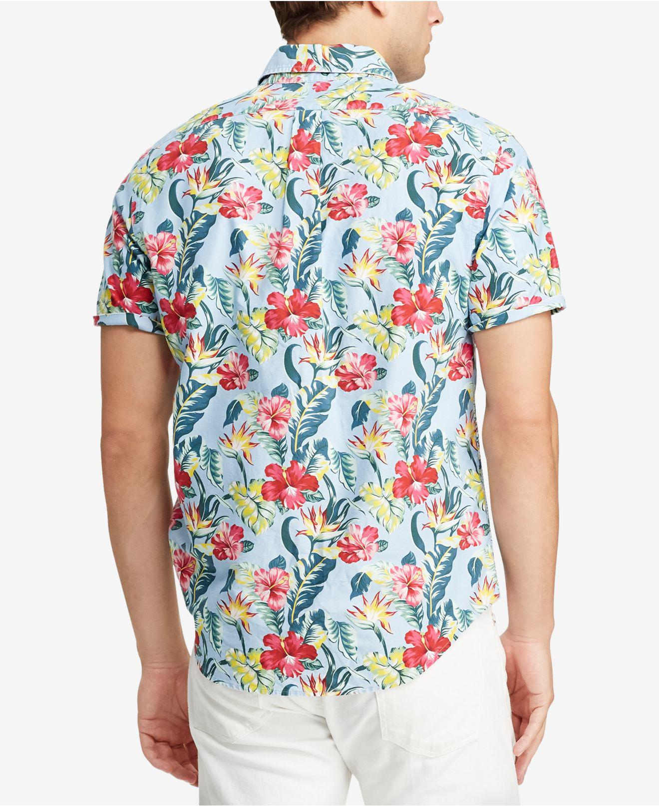 a87beda6c233d Lyst - Polo Ralph Lauren Classic Fit Hawaiian Shirt in Blue for Men
