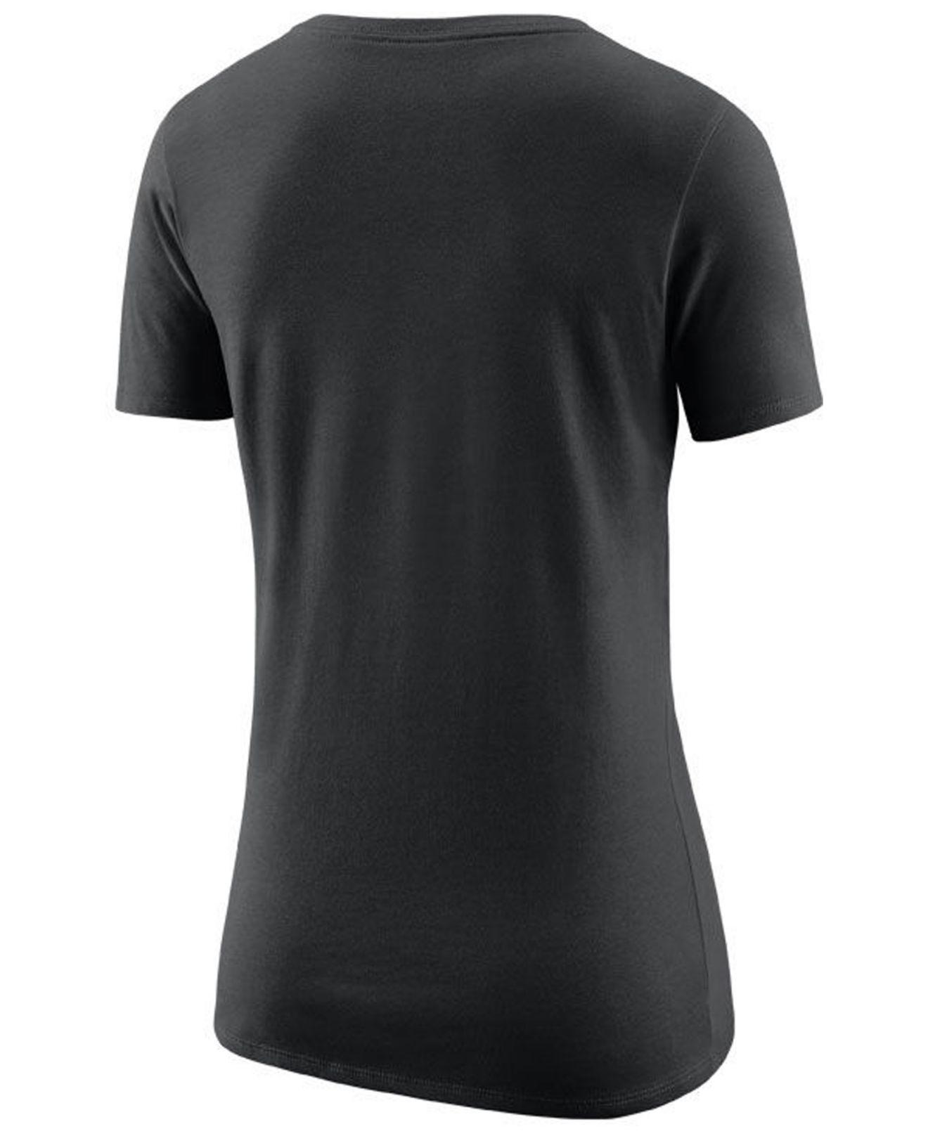 Lyst - Nike San Antonio Spurs Logo T-shirt in Black 155173e6d