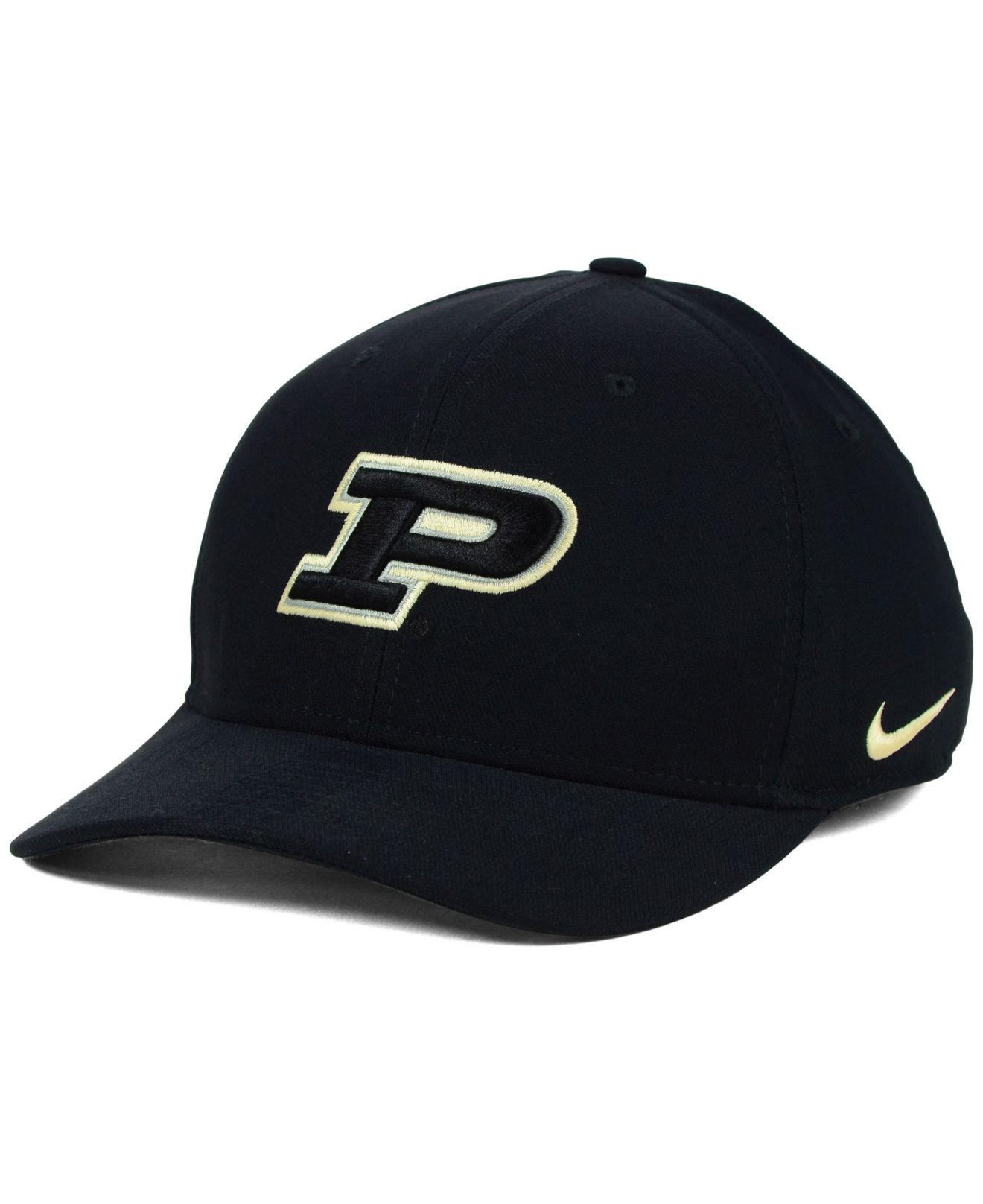 Lyst - Nike Purdue Boilermakers Classic Swoosh Cap in Black for Men e88d39726610