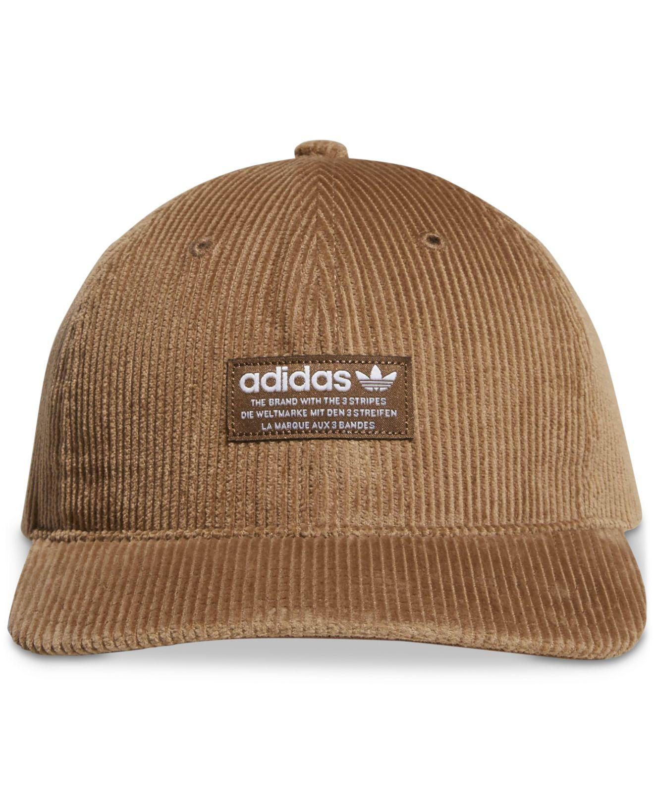 Lyst - adidas Originals Corduroy Logo Hat in Brown for Men f9821bbe9e8