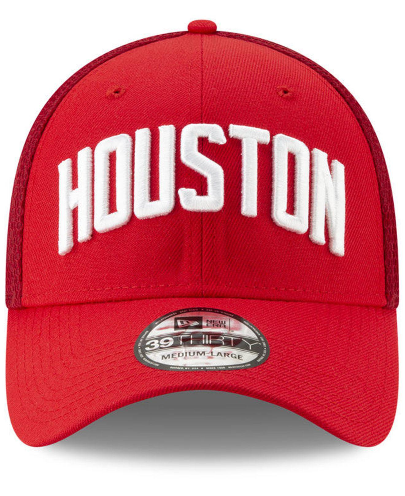 huge discount 04b95 2f771 KTZ - Red Houston Rockets Earned Edition 39thirty Cap for Men - Lyst. View  fullscreen