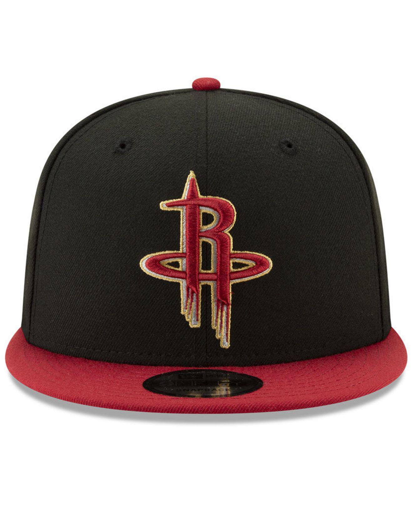 cheap for discount 6e2c3 17c15 Lyst - KTZ Houston Rockets City Pop Series 9fifty Snapback Cap in Black for  Men