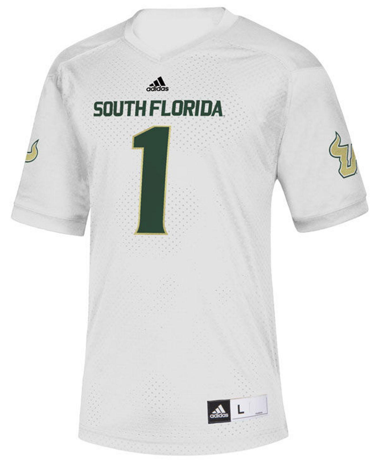 Lyst - Adidas South Florida Bulls Replica Football Jersey in White for Men 2efb70116