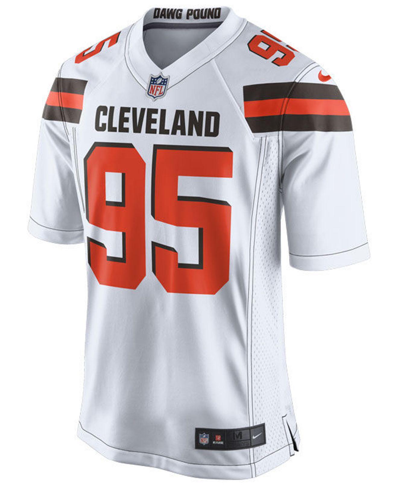 ca93ed7da Lyst - Nike Myles Garrett Cleveland Browns Game Jersey in White for Men