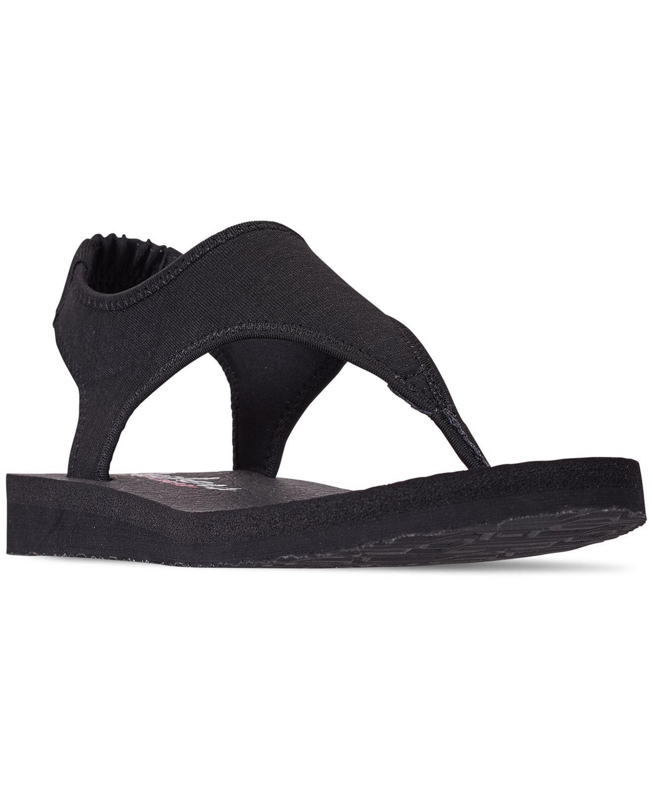 19f9db8c2 Skechers. Women s Black Asana - Twilight Spell Flip-flop Thong Sandals From Finish  Line