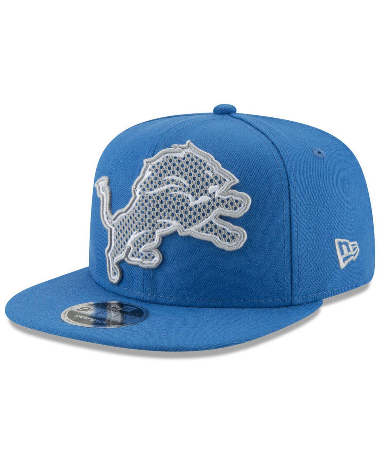 4d0d595e354 Lyst - Ktz Detroit Lions Meshed Mix 9fifty Snapback Cap in Blue for Men