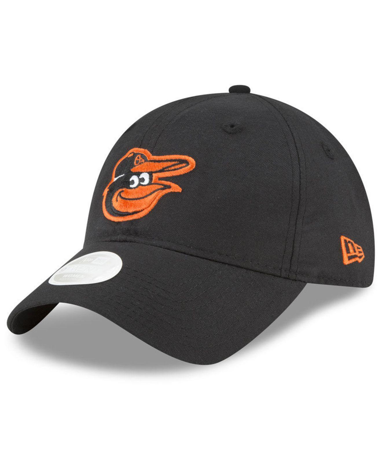 best website 7e4d5 69537 KTZ. Men s Black Baltimore Orioles Team Linen 9twenty Strapback Cap