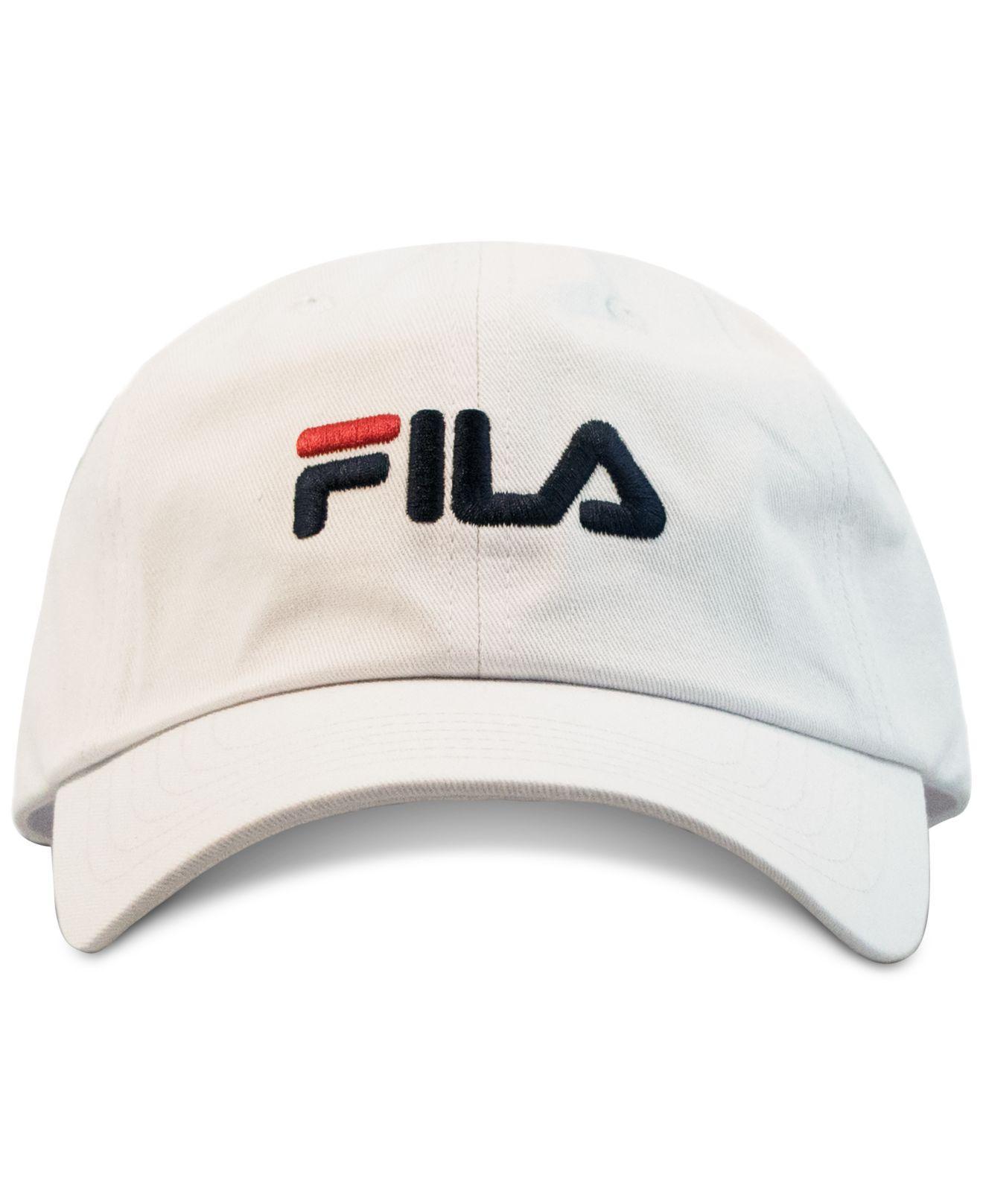 cb26e1759c9 Lyst - Fila Cotton Logo Hat in White