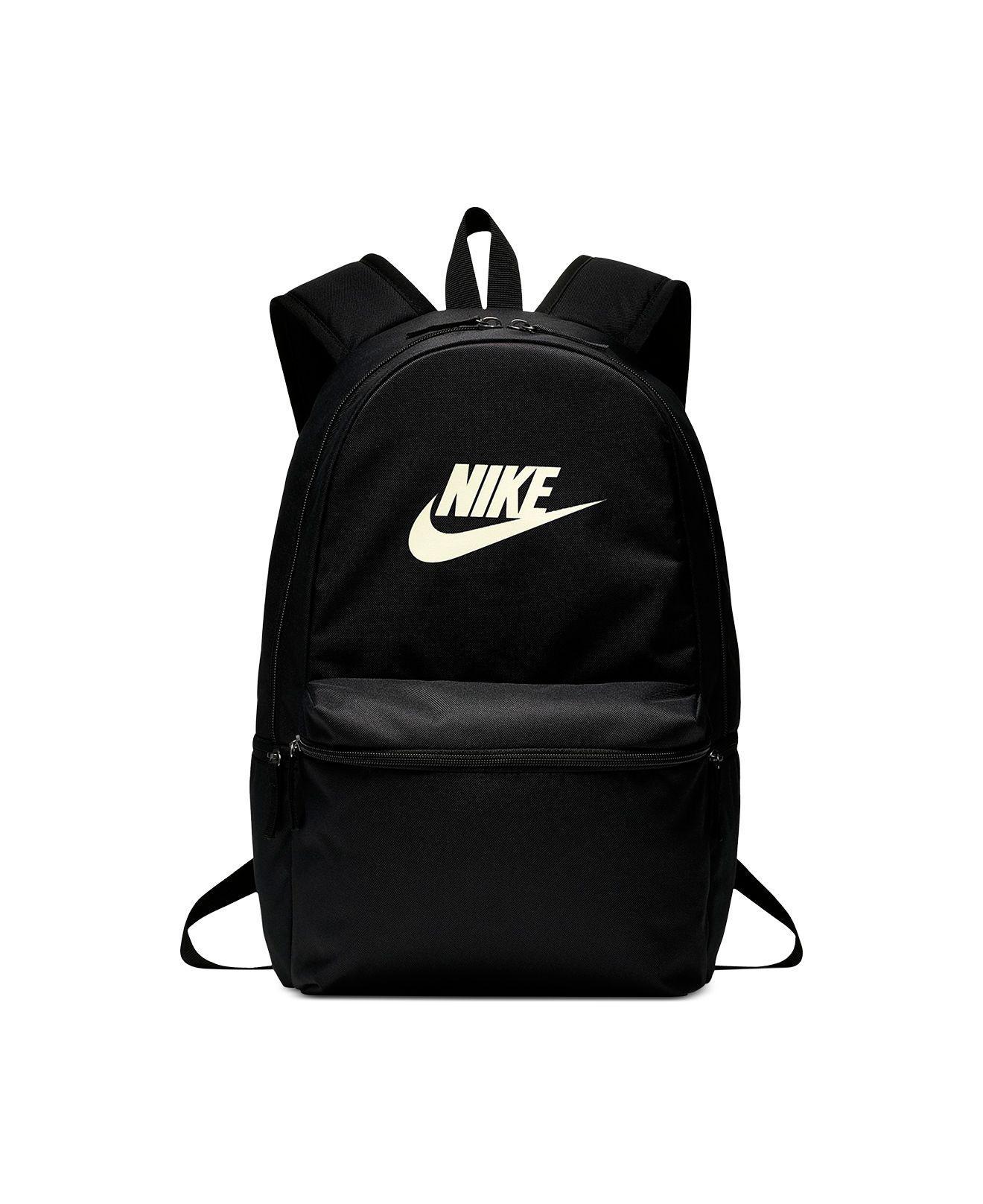 Lyst - Nike Heritage Metallic-logo Backpack in Black e6661a420