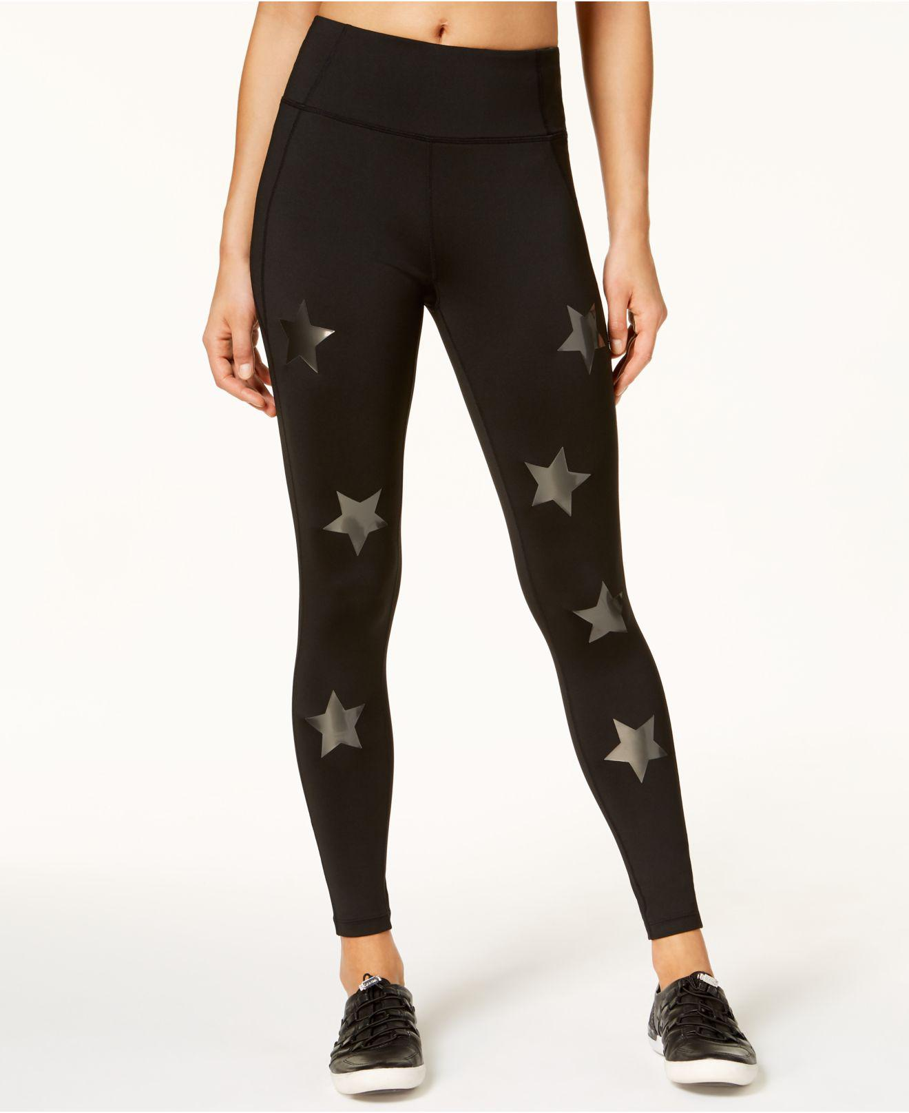0c46ba2e284ee Lyst - Calvin Klein High-rise Star Leggings in Black