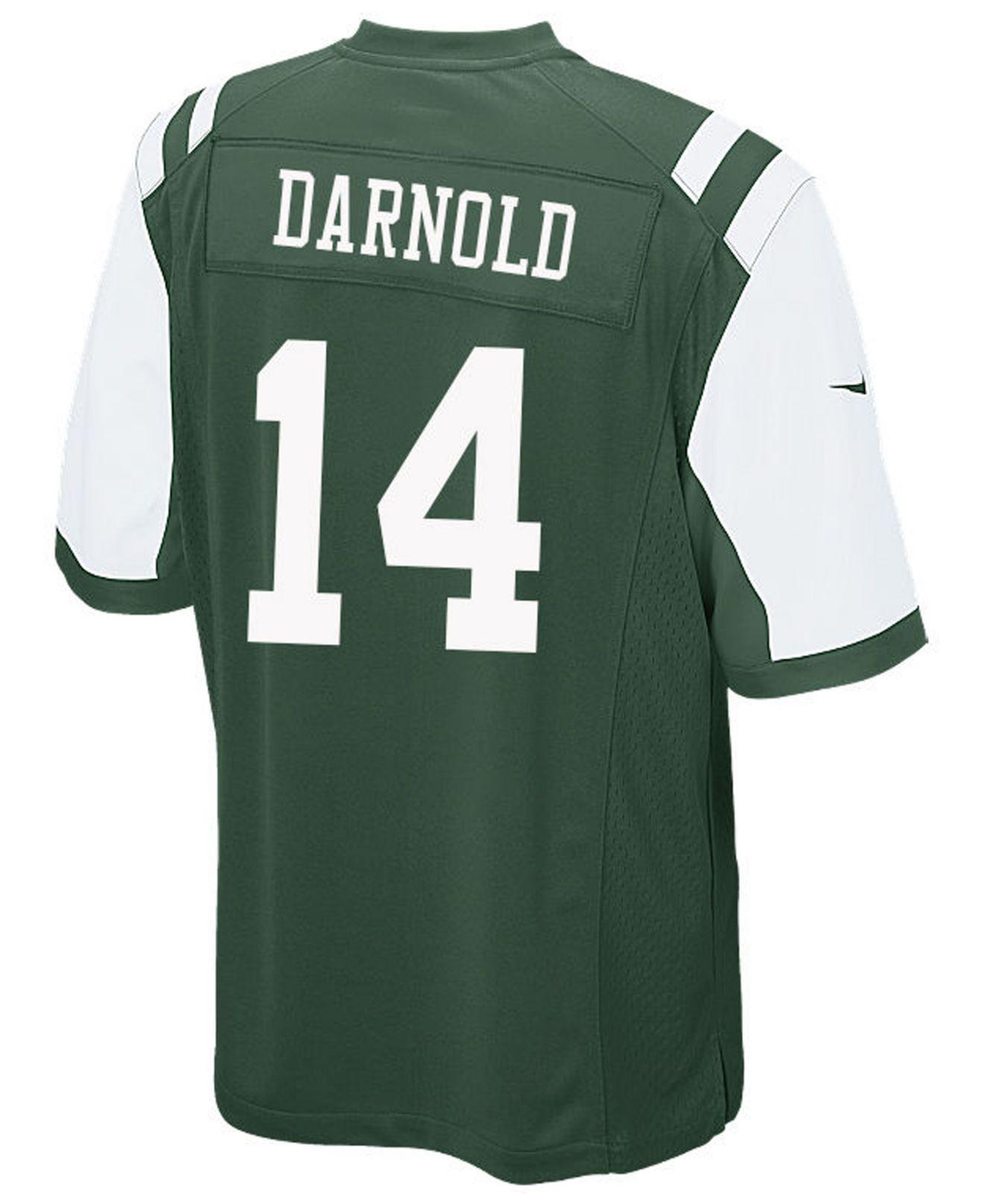 Lyst - Nike Sam Darnold New York Jets Game Jersey in Green for Men fa3de3986